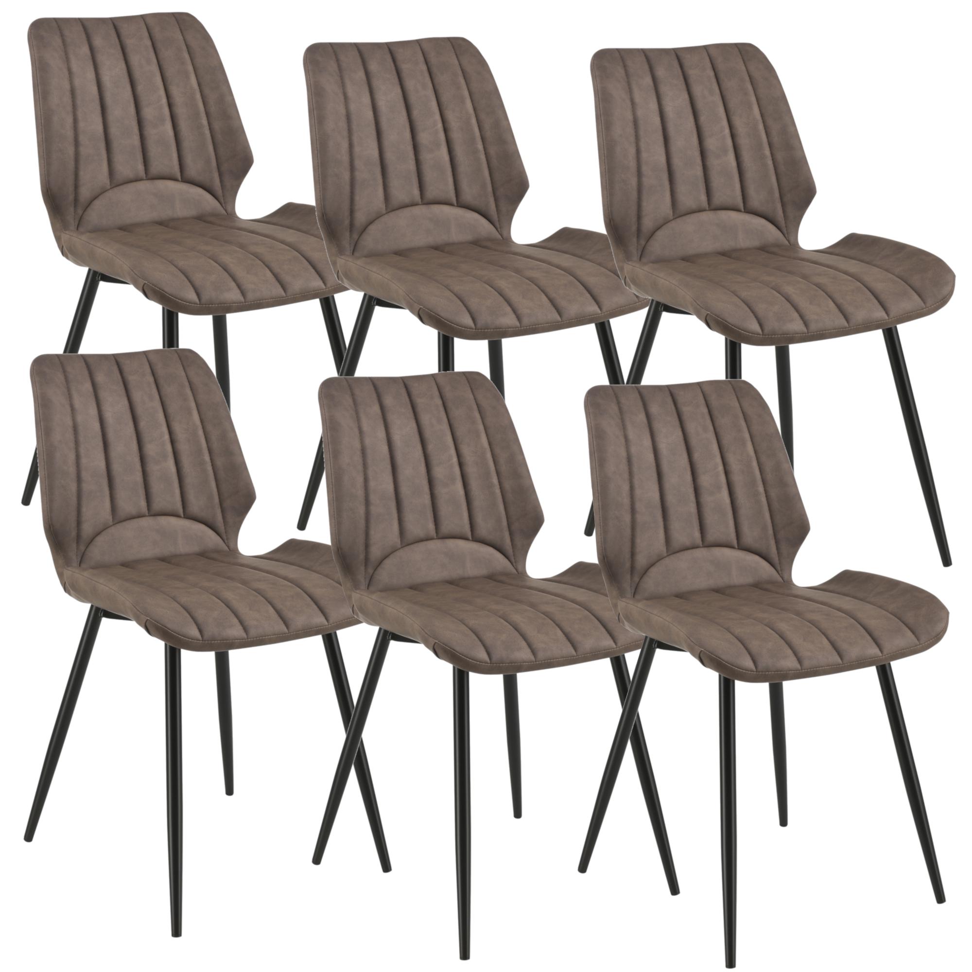 [en.casa]® Jídelní židle 6x AACM-9033