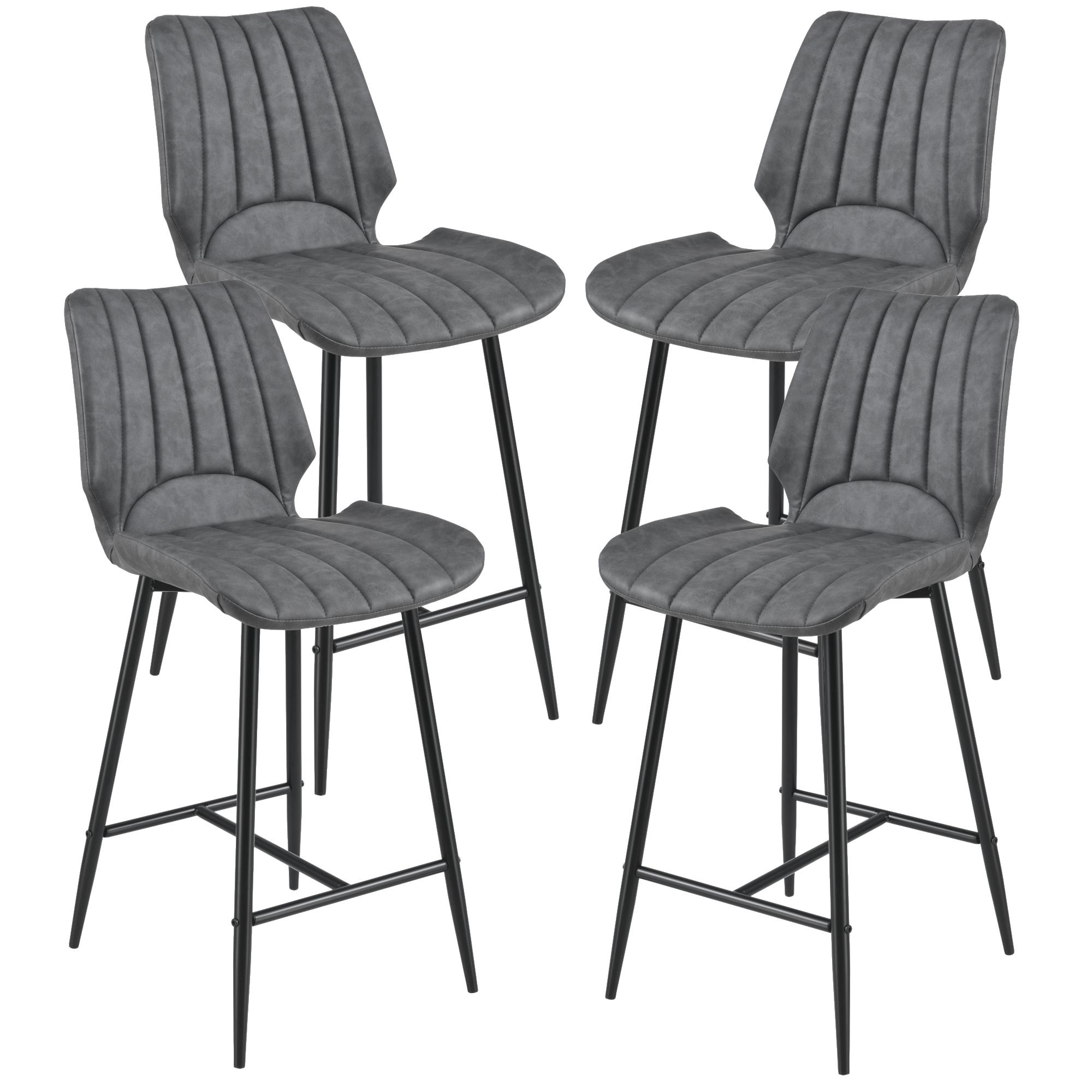 [en.casa]® Barová židle 4x AACM-9035