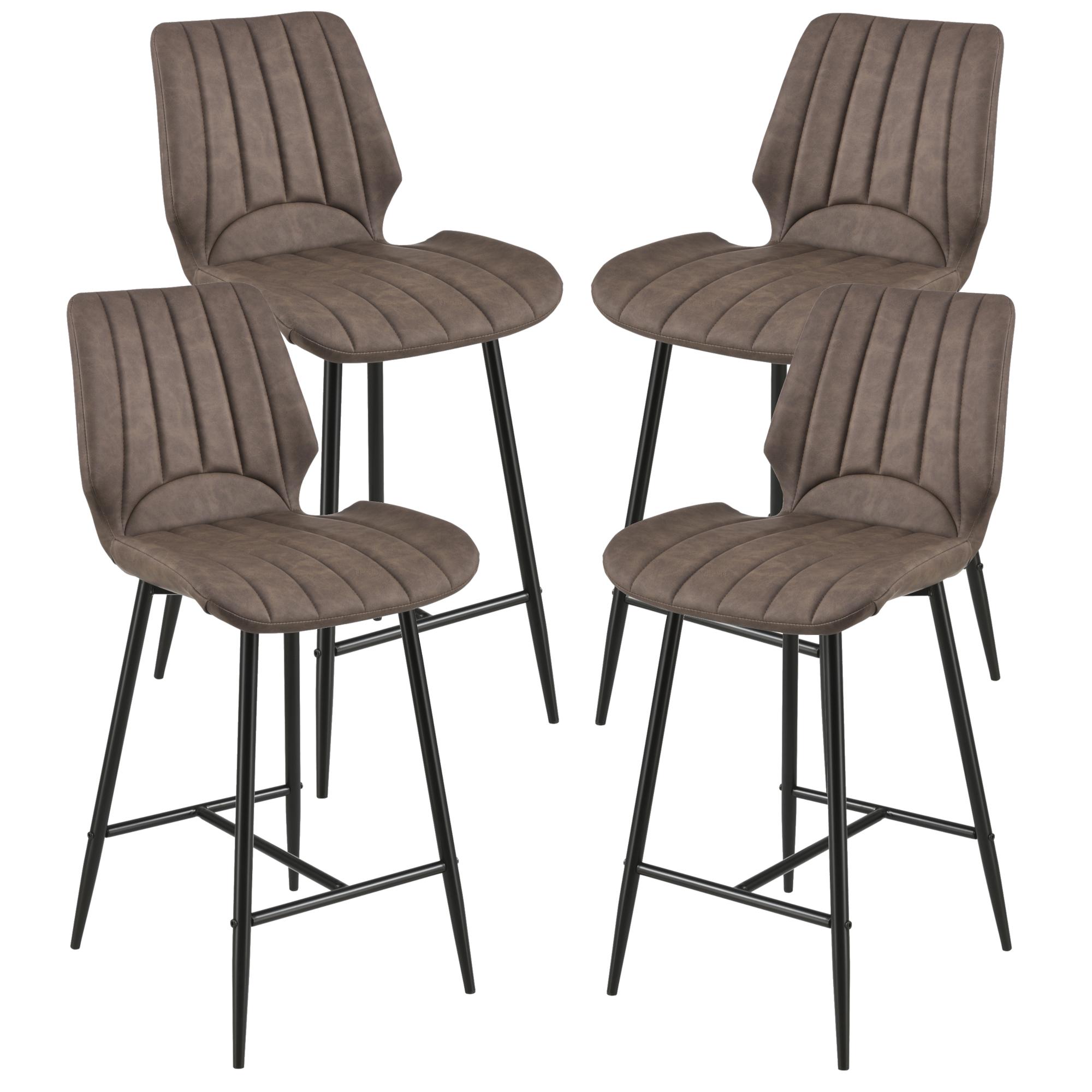 [en.casa]® Barová židle 4x AACM-9036