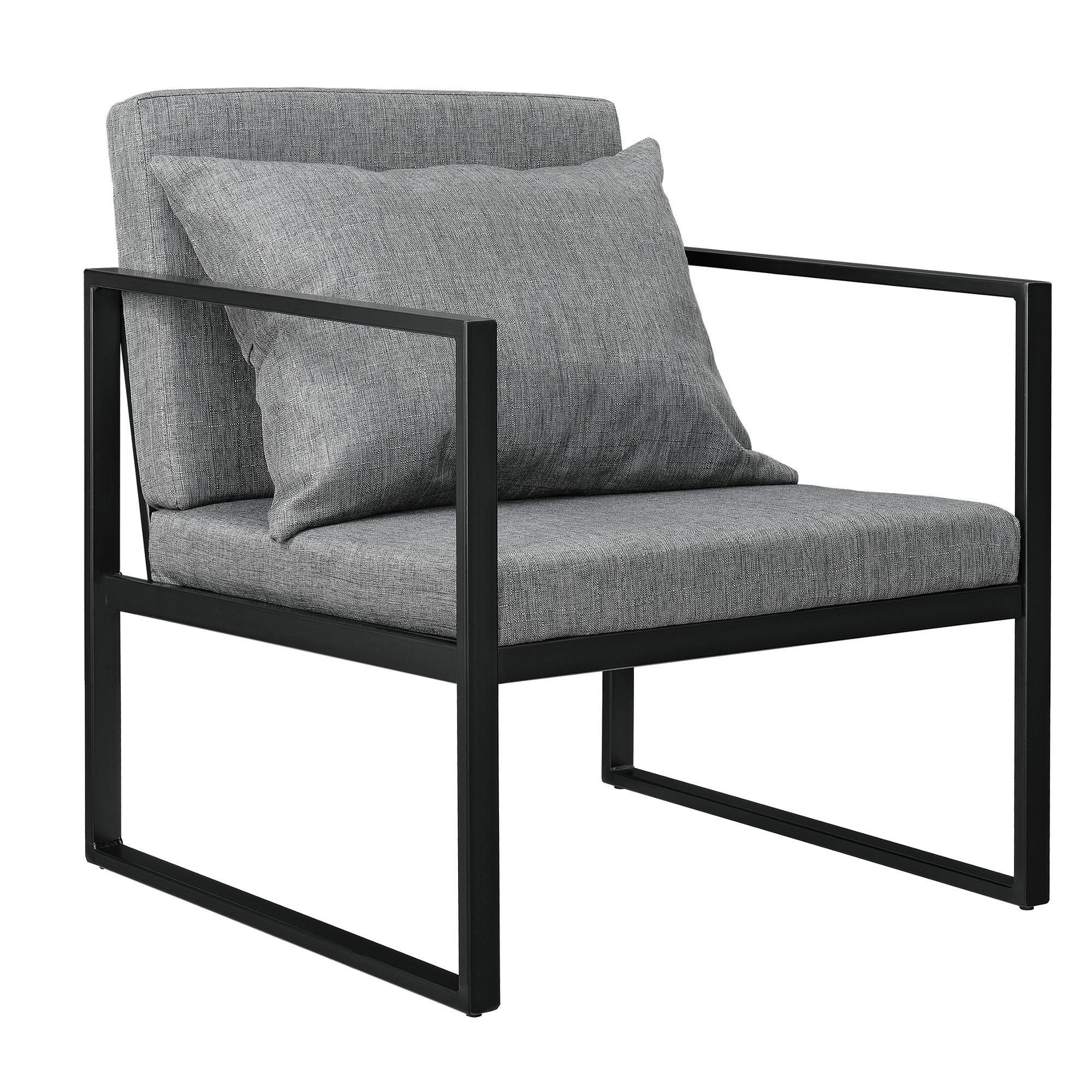 2x fauteuil bascule chaise de salon gris tissu ebay. Black Bedroom Furniture Sets. Home Design Ideas