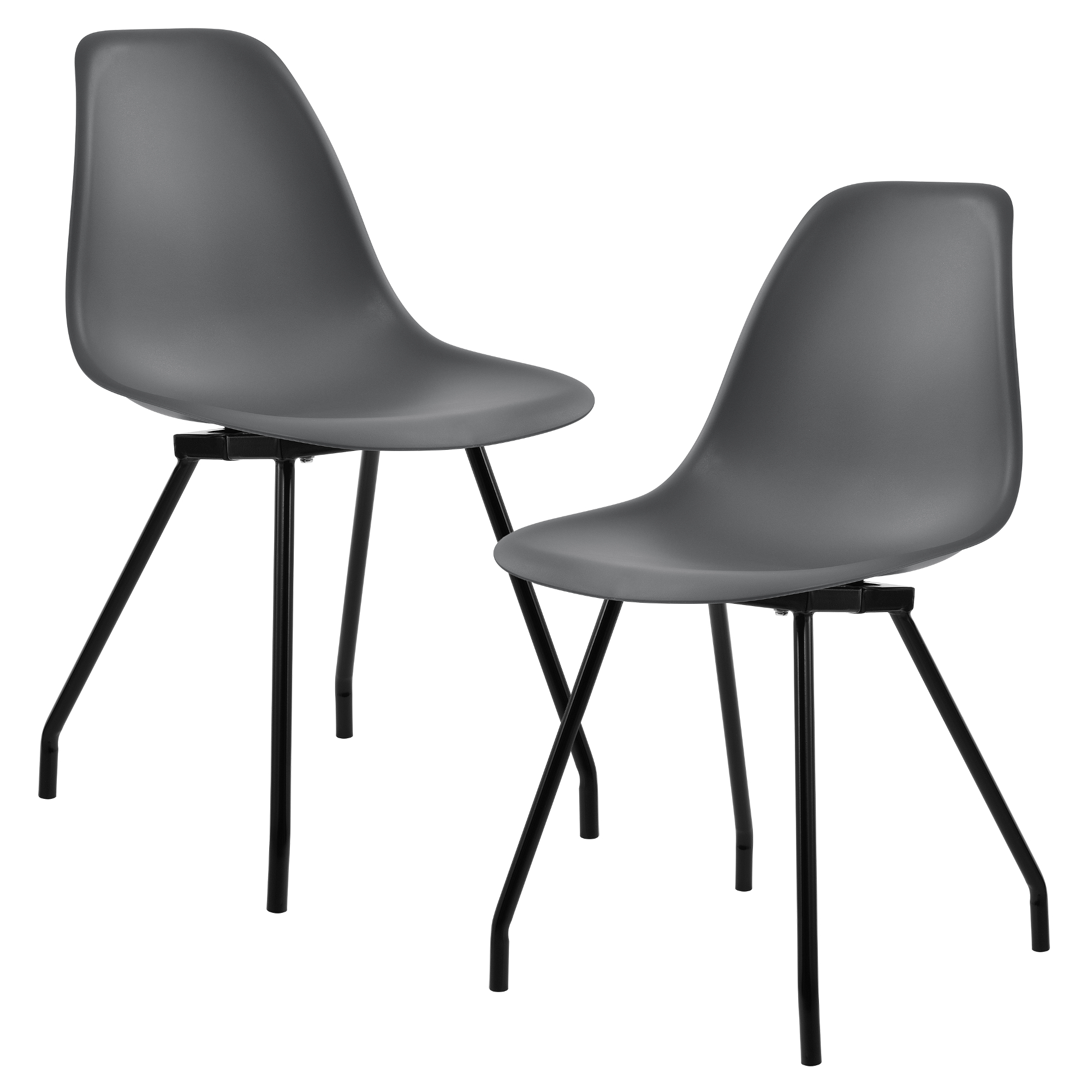 2x design st hle esszimmer stuhl plastik. Black Bedroom Furniture Sets. Home Design Ideas