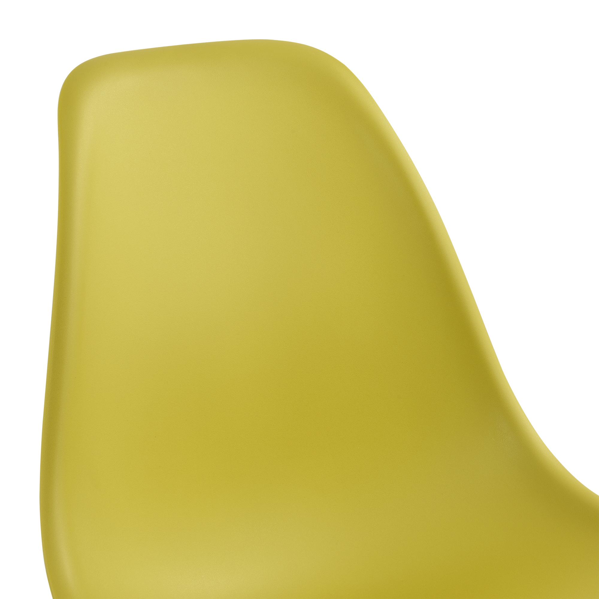 6x design st hle esszimmer senffarben stuhl plastik kunststoff retro 4059438106545 ebay. Black Bedroom Furniture Sets. Home Design Ideas
