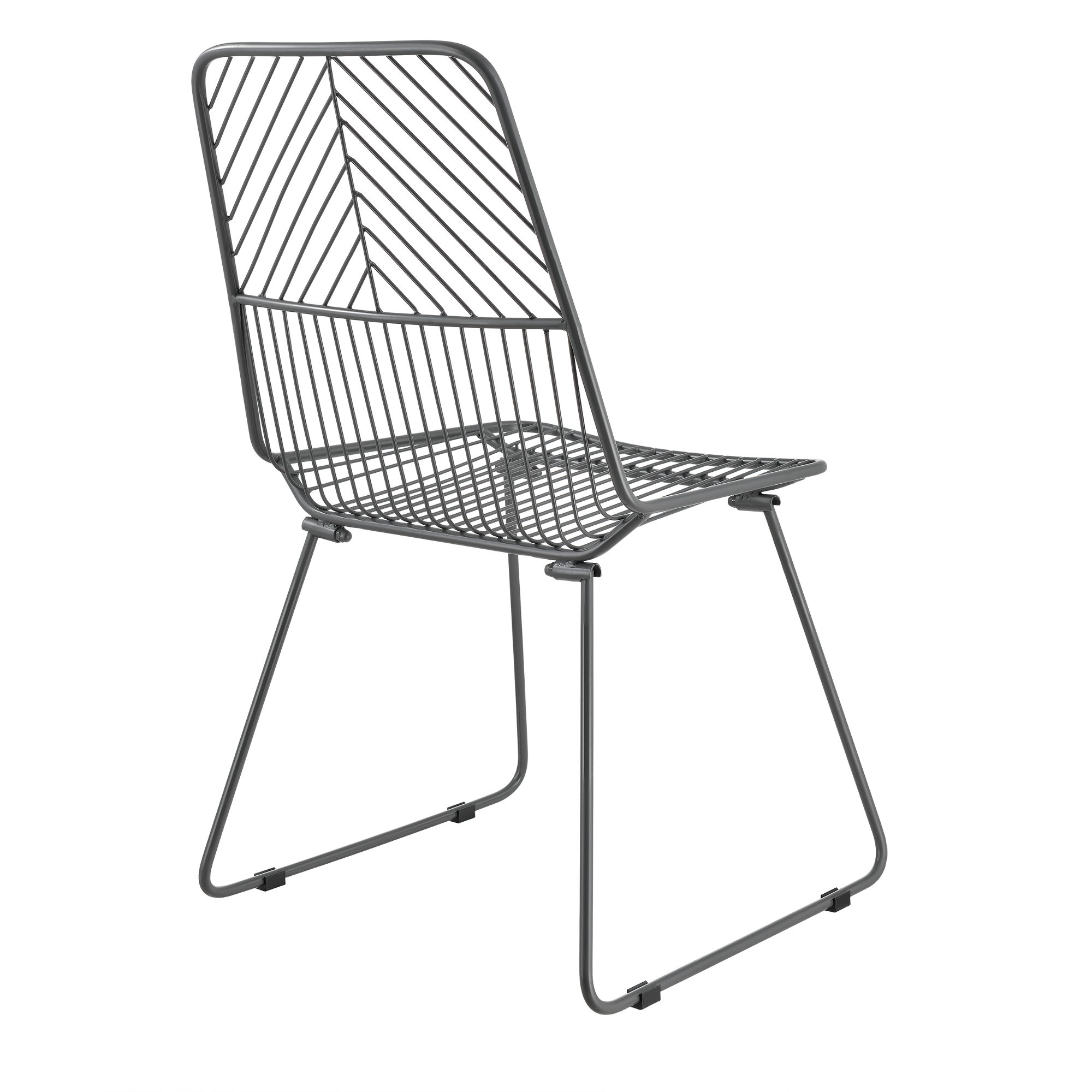 2x design st hle metall dunkelgrau stuhl set for Design stuhl metall