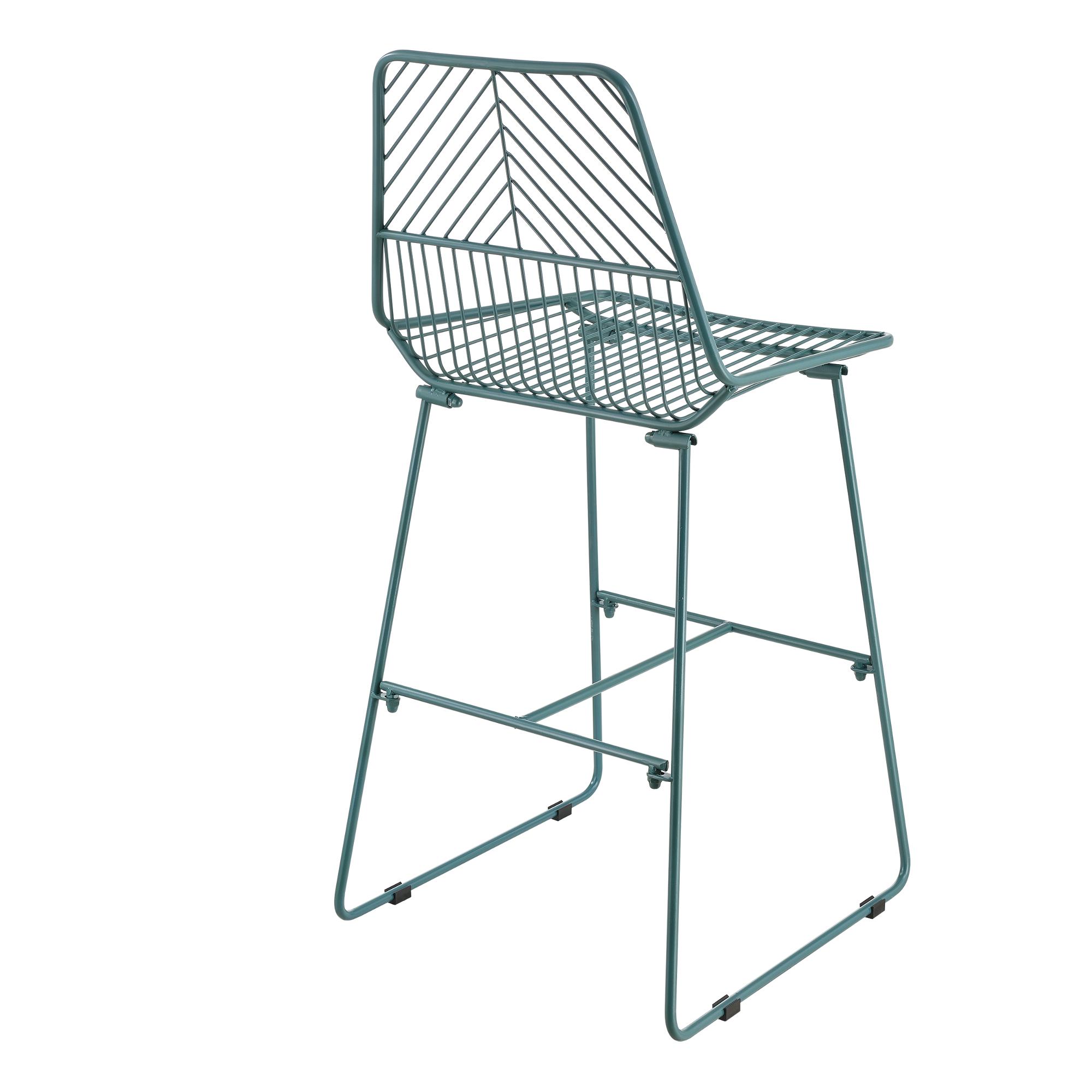 Set de 2 sillas altas de metal taburetes con - Sillas para casa ...