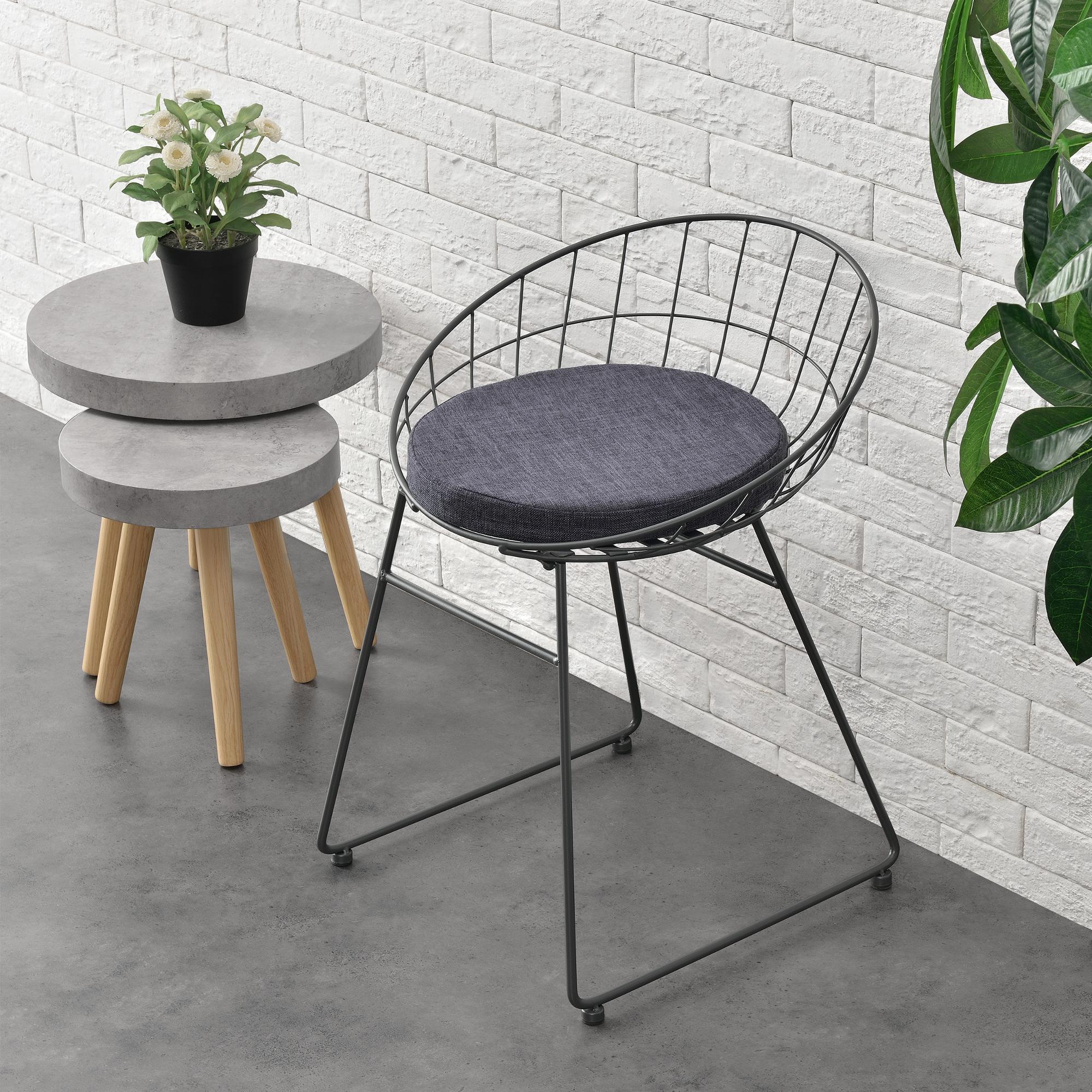 2x design st hle metall grau stuhl set lehnstuhl for Design stuhl metall