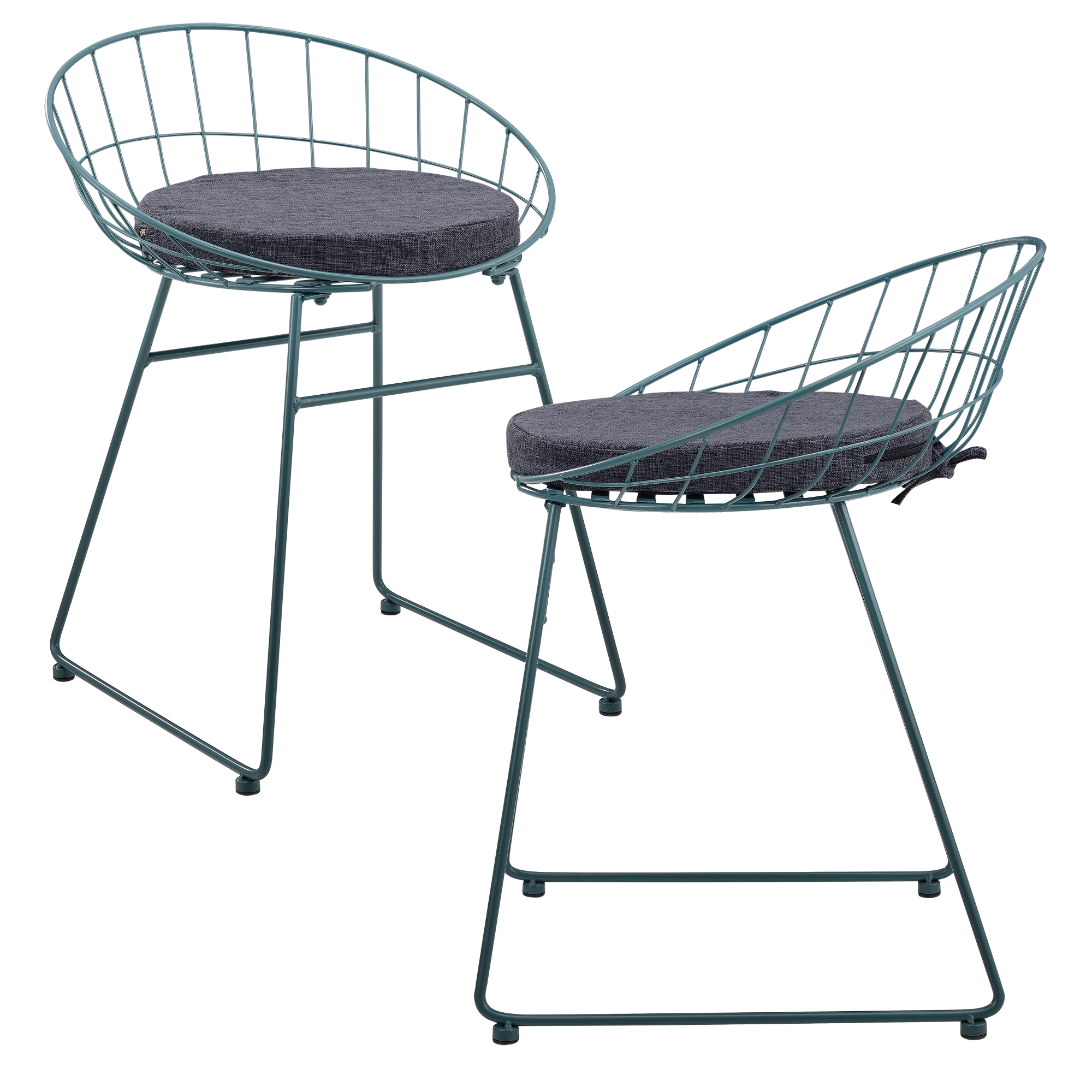 Fabelhaft Metall Stuhl Beste Wahl En-casa-2x-design-stuehle-metall-stuhl-set-