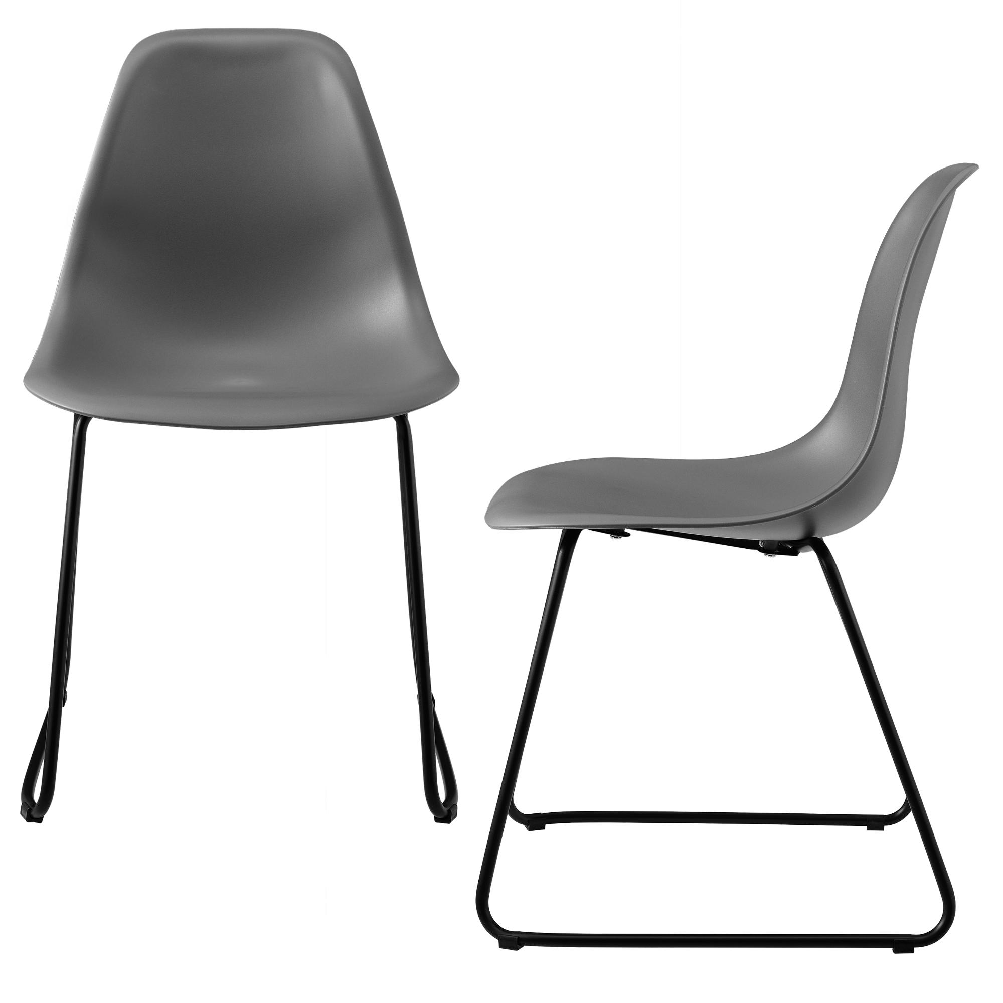 ® 2x Barhocker 110x46,5cm Design Barstuhl Bar Theken Hocker Set Metall en.casa