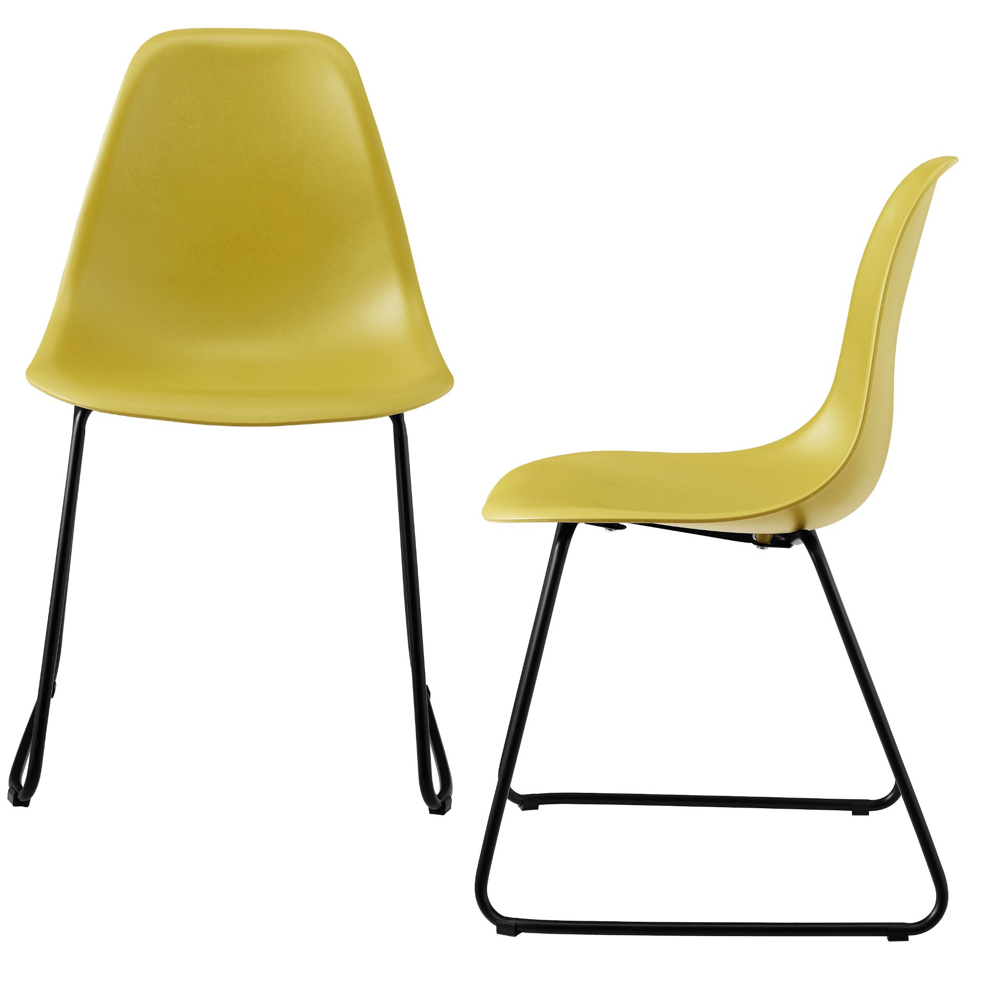2x design st hle 82x46 5cm esszimmerst hle for Design stuhl kunststoff