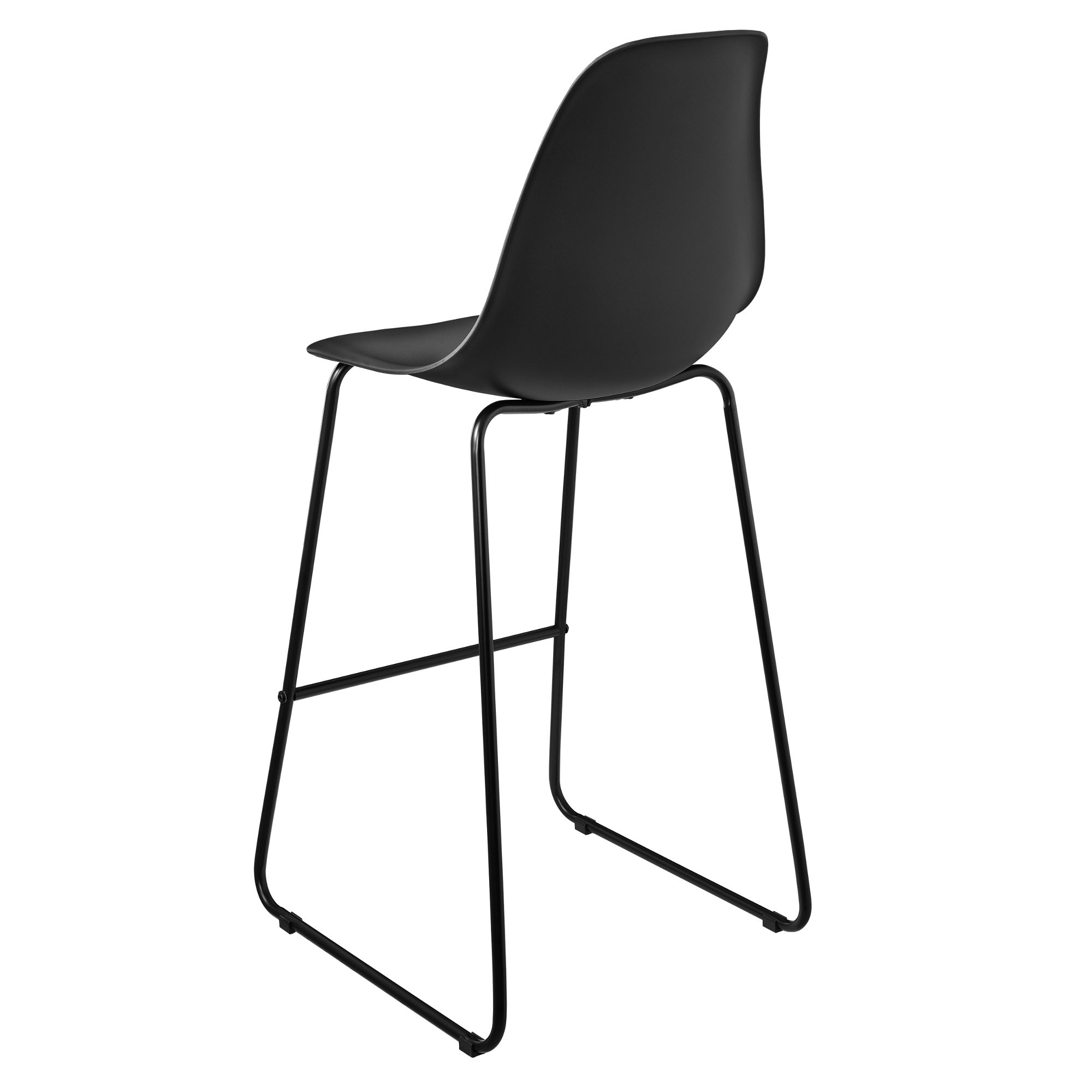 2x barhocker 110x46 5cm schwarz design barstuhl for Barhocker designklassiker