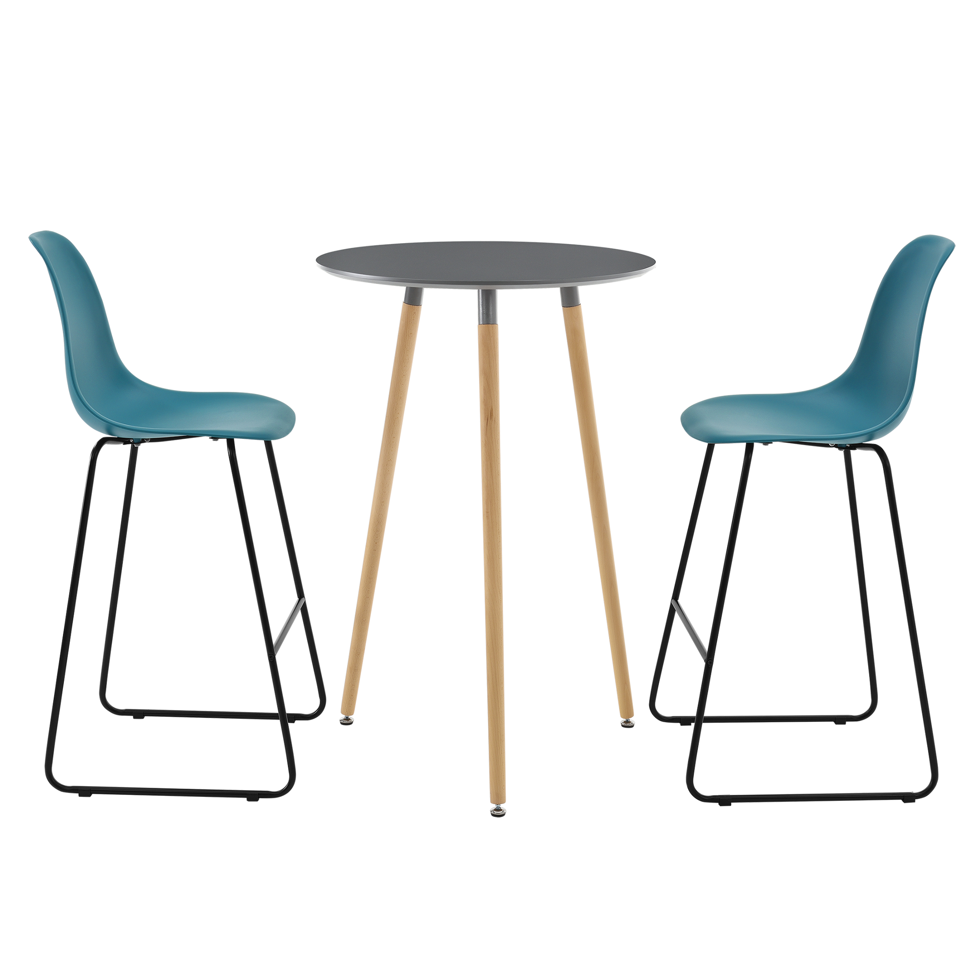 bartisch grau barhocker barhockerset bartresen. Black Bedroom Furniture Sets. Home Design Ideas