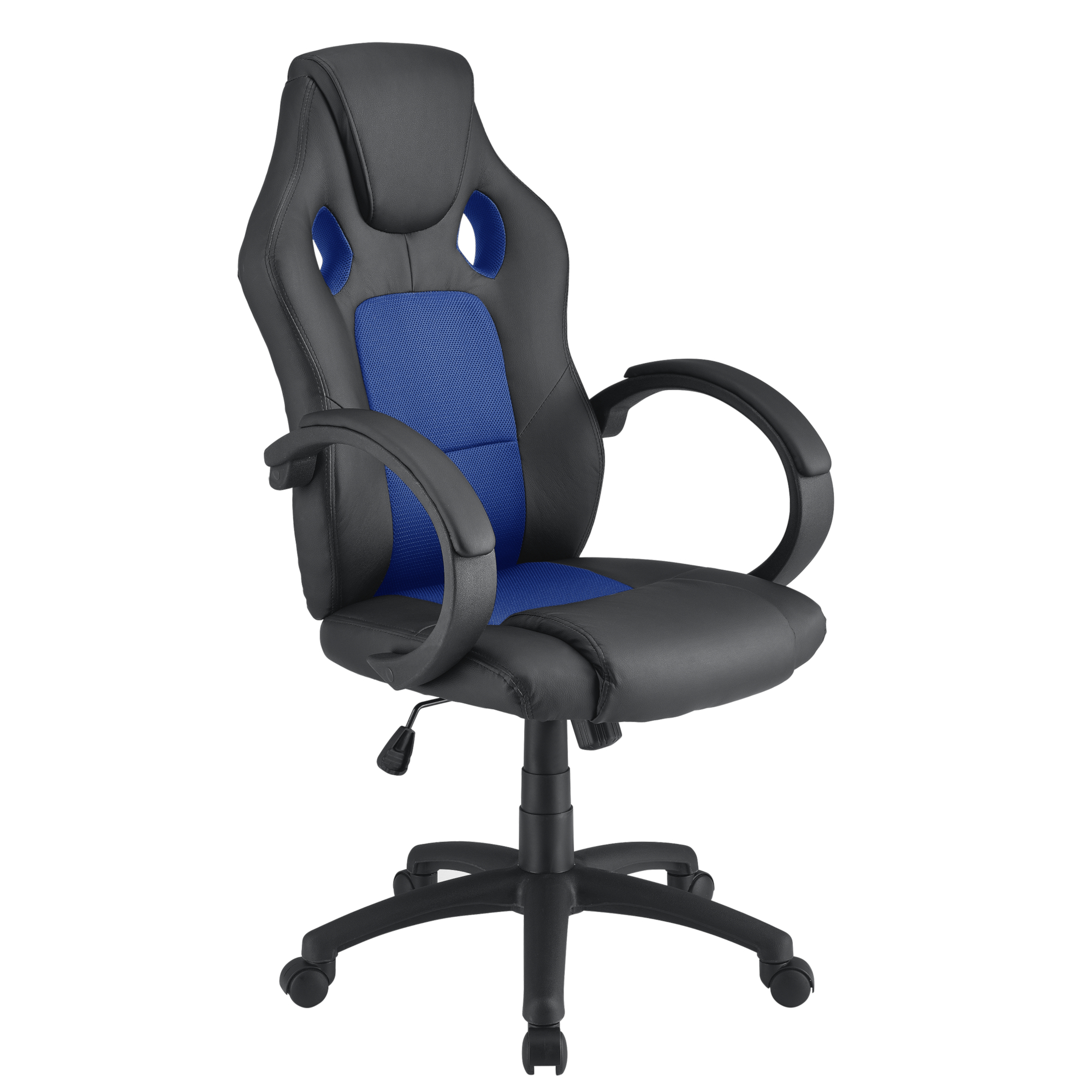 Racing Silla Ejecutiva Negro/Azul Giratoria de Oficina Asiento ...