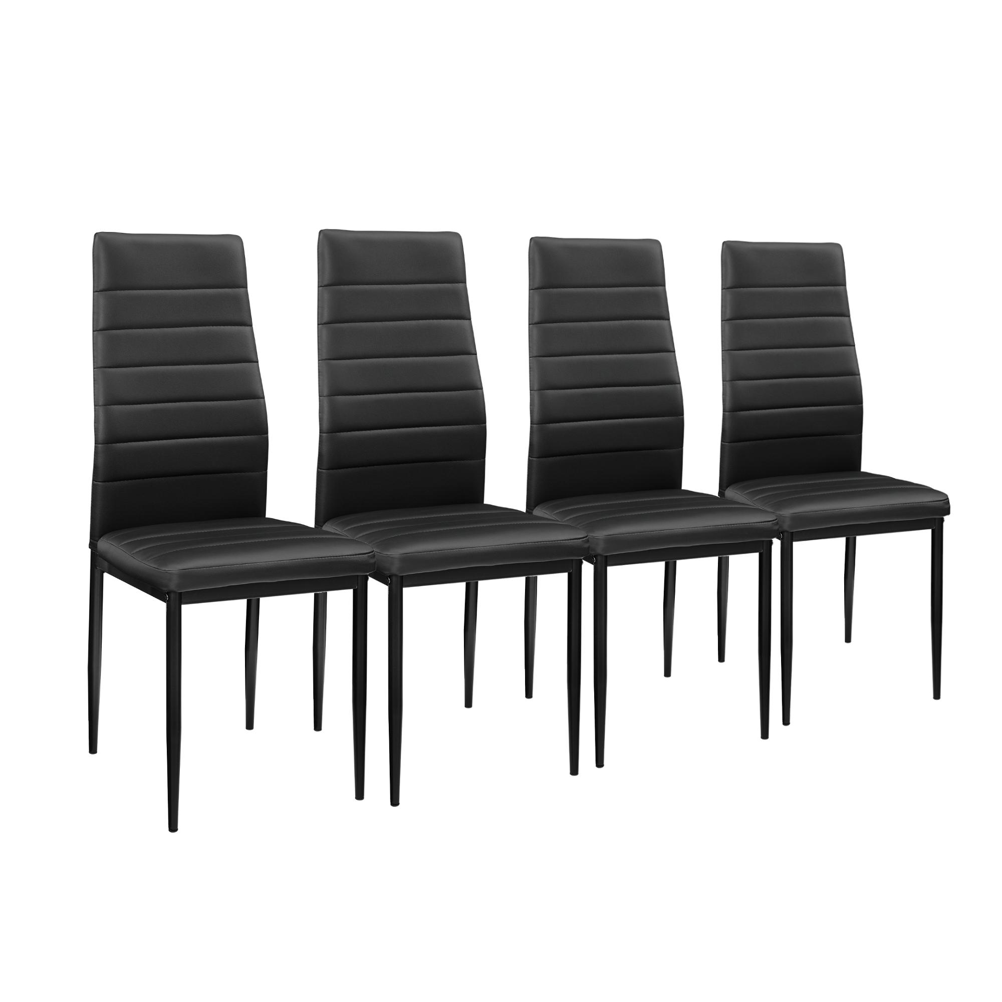 [en.casa]® Esstisch mit 4 Stühlen schwarz 120x60cm Küchentisch Esszimmertisch