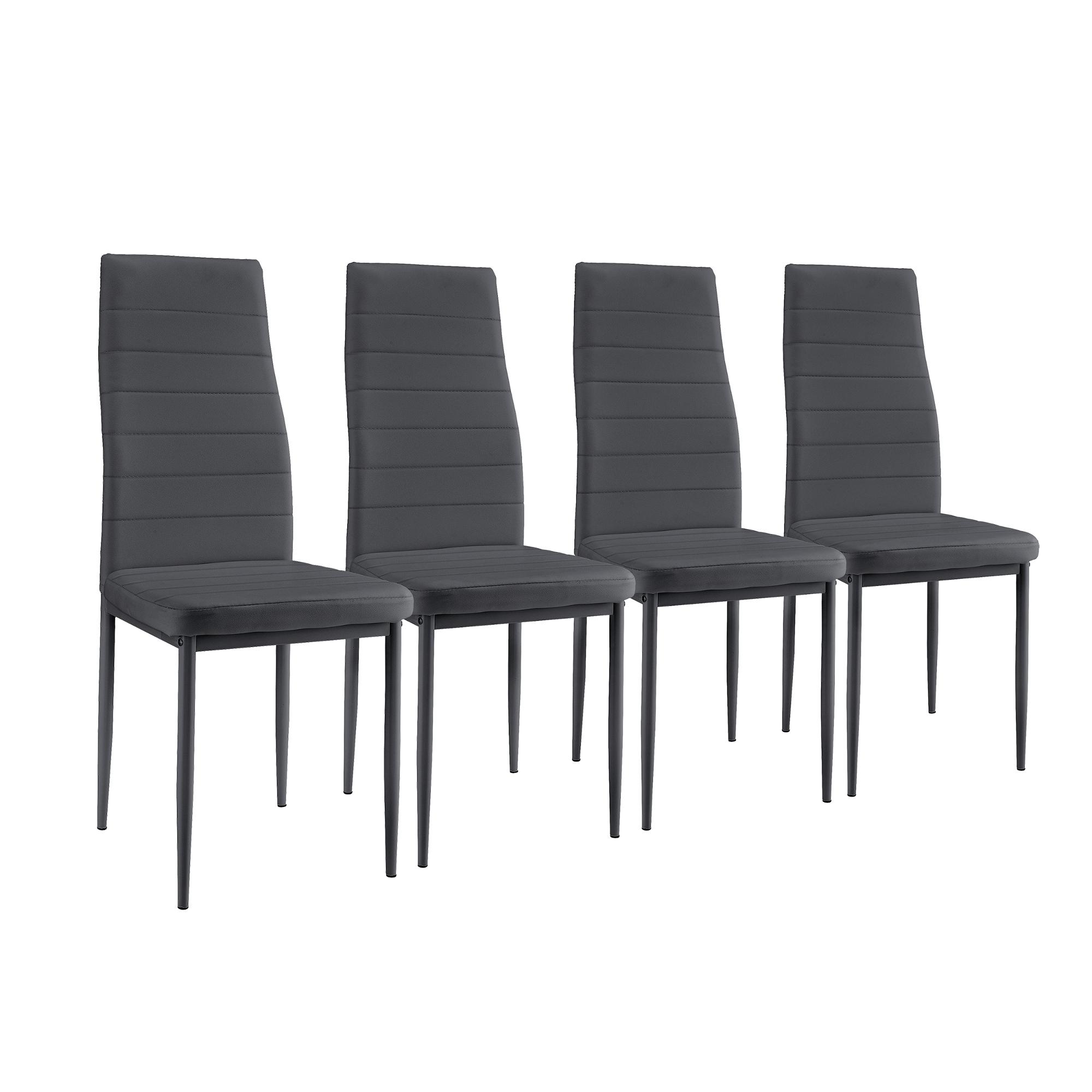 Sedie A Forma Di Sedere Costo dettagli su [en.casa]® tavolo da pranzo con 4 sedie nere/grigio 120x70  tavolo cucina sala