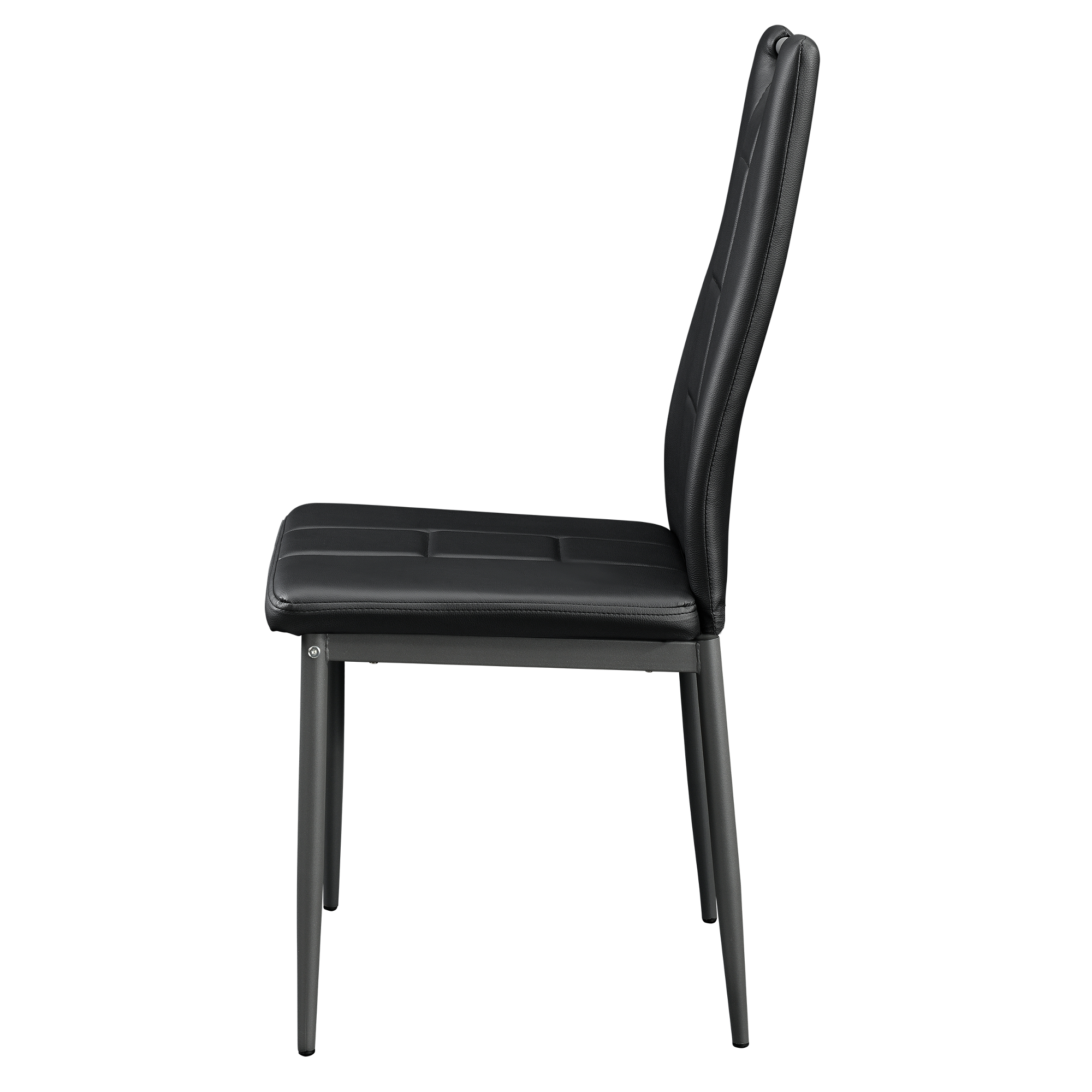 6x st hle schwarz hochlehner esszimmer kunstleder polsterstuhl mit griff ebay. Black Bedroom Furniture Sets. Home Design Ideas
