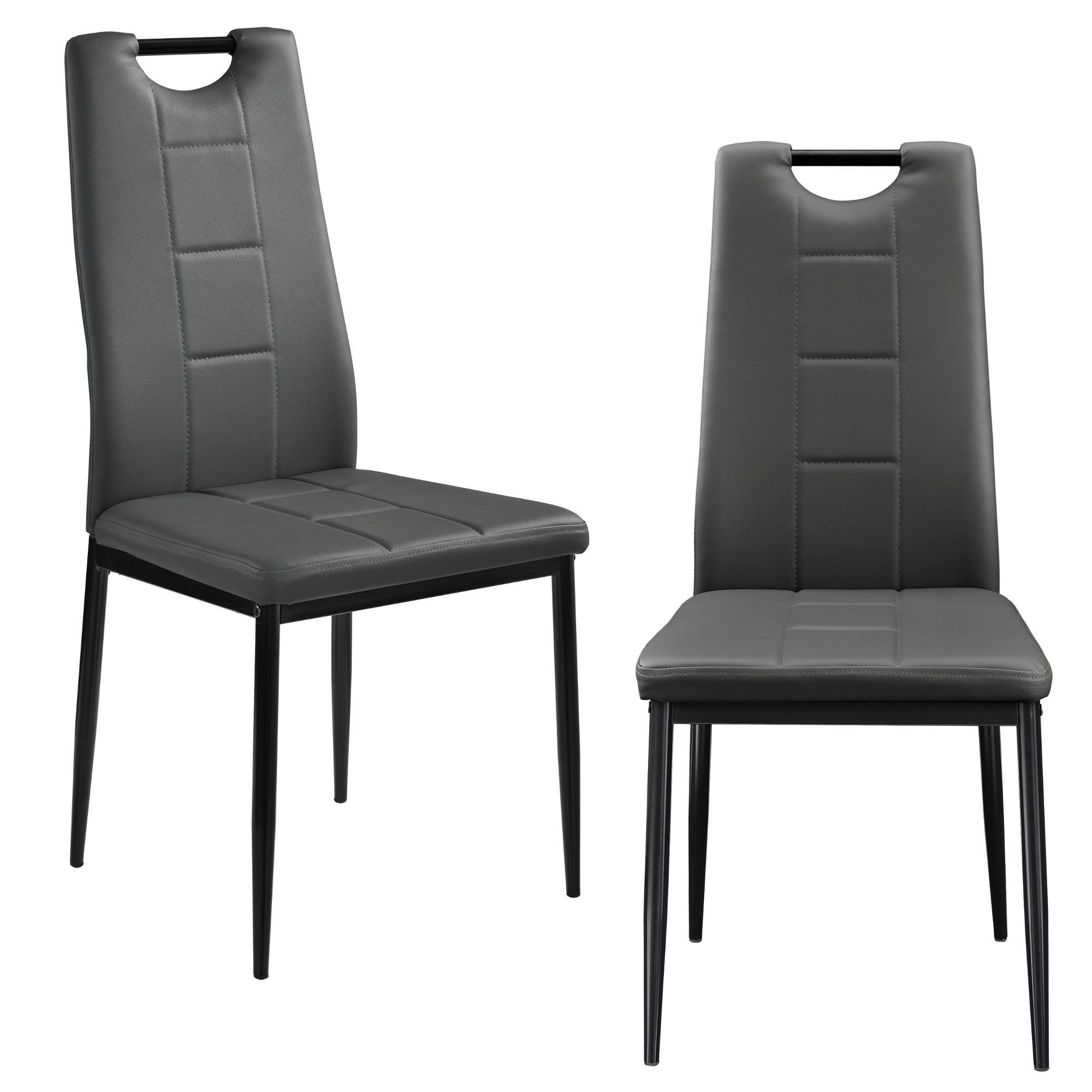 esszimmerstuhl 2er set wohnzimmer k chenstuhl esszimmer st hle griff ebay. Black Bedroom Furniture Sets. Home Design Ideas