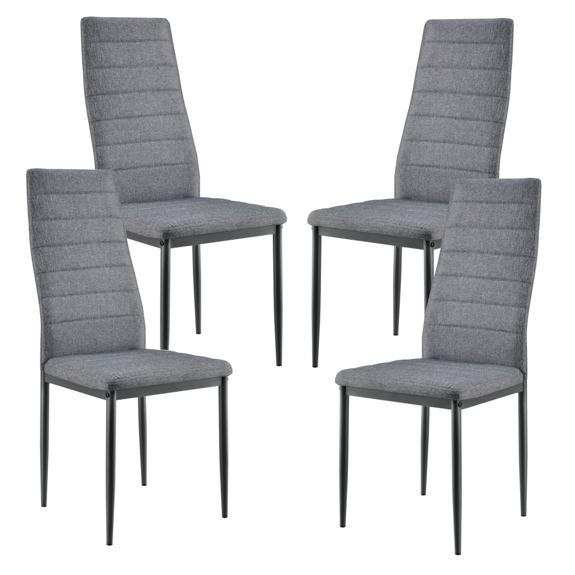 Detalles de [en.casa] Set de 4X sillas de Comedor Elegantes tapizadas de  Tela Asiento Cocina