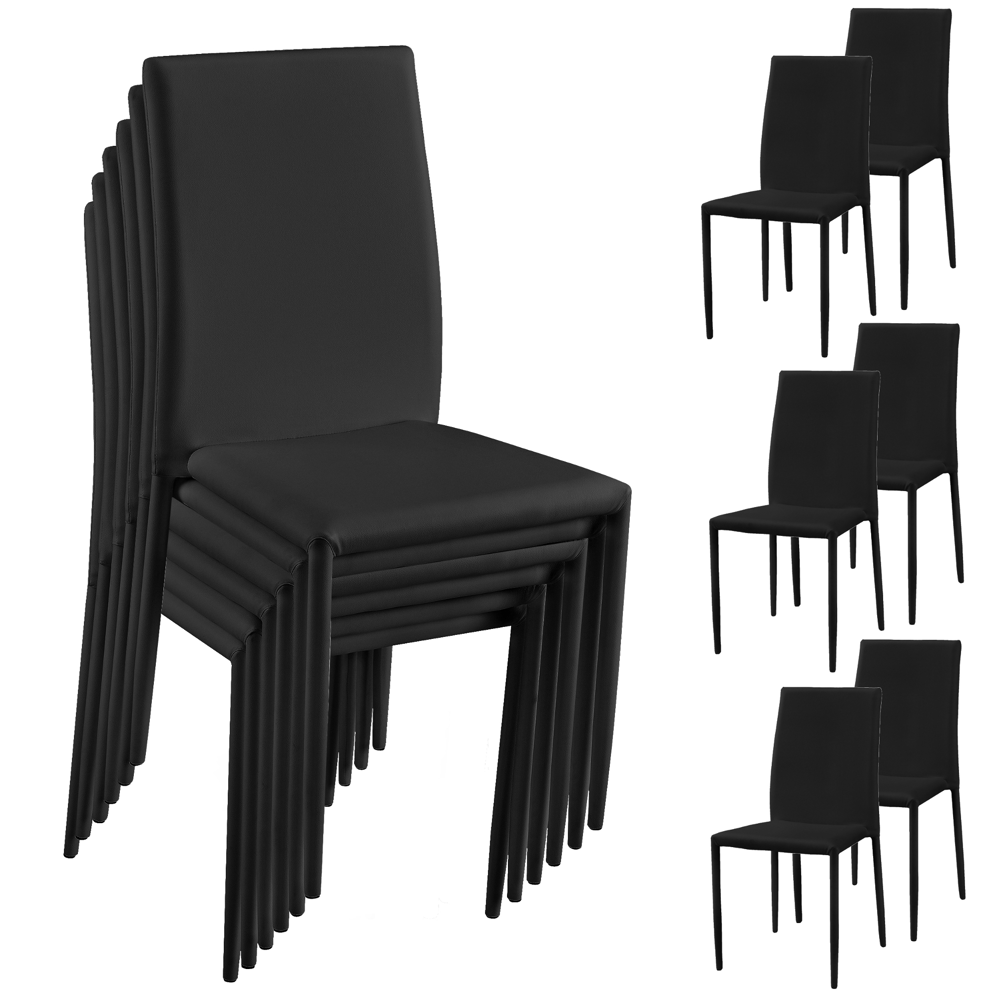 esszimmerstuhl 6er set wohnzimmer k chenstuhl esszimmer st hle ebay. Black Bedroom Furniture Sets. Home Design Ideas