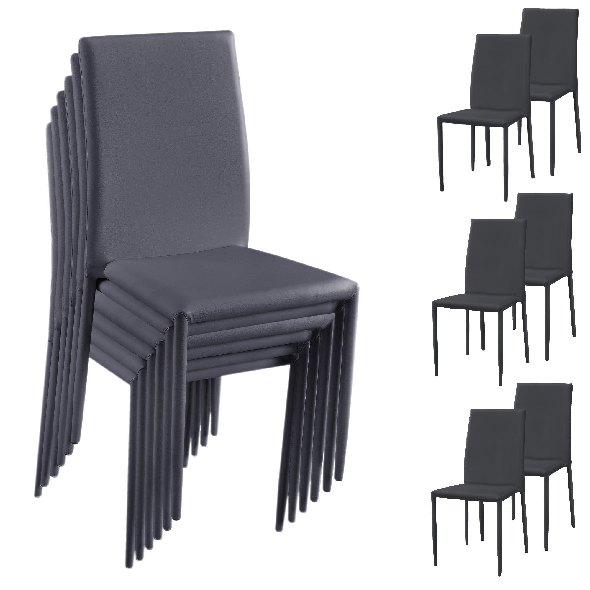 [ensa] Esszimmerstuhl 6er Set Wohnzimmer Küchenstuhl