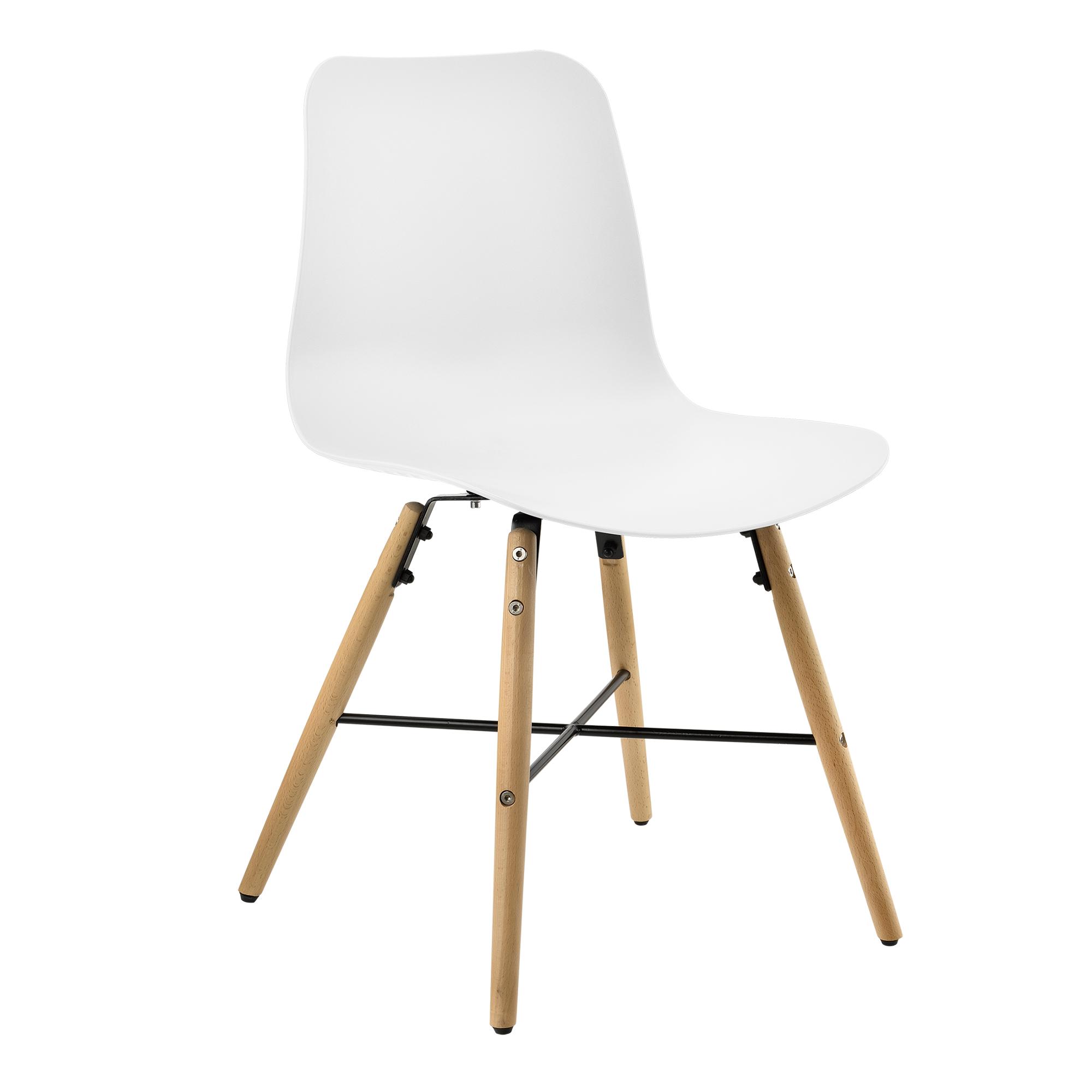 Ensemble de 6 chaise salle manger blanc avec for Chaise de salle a manger en plastique