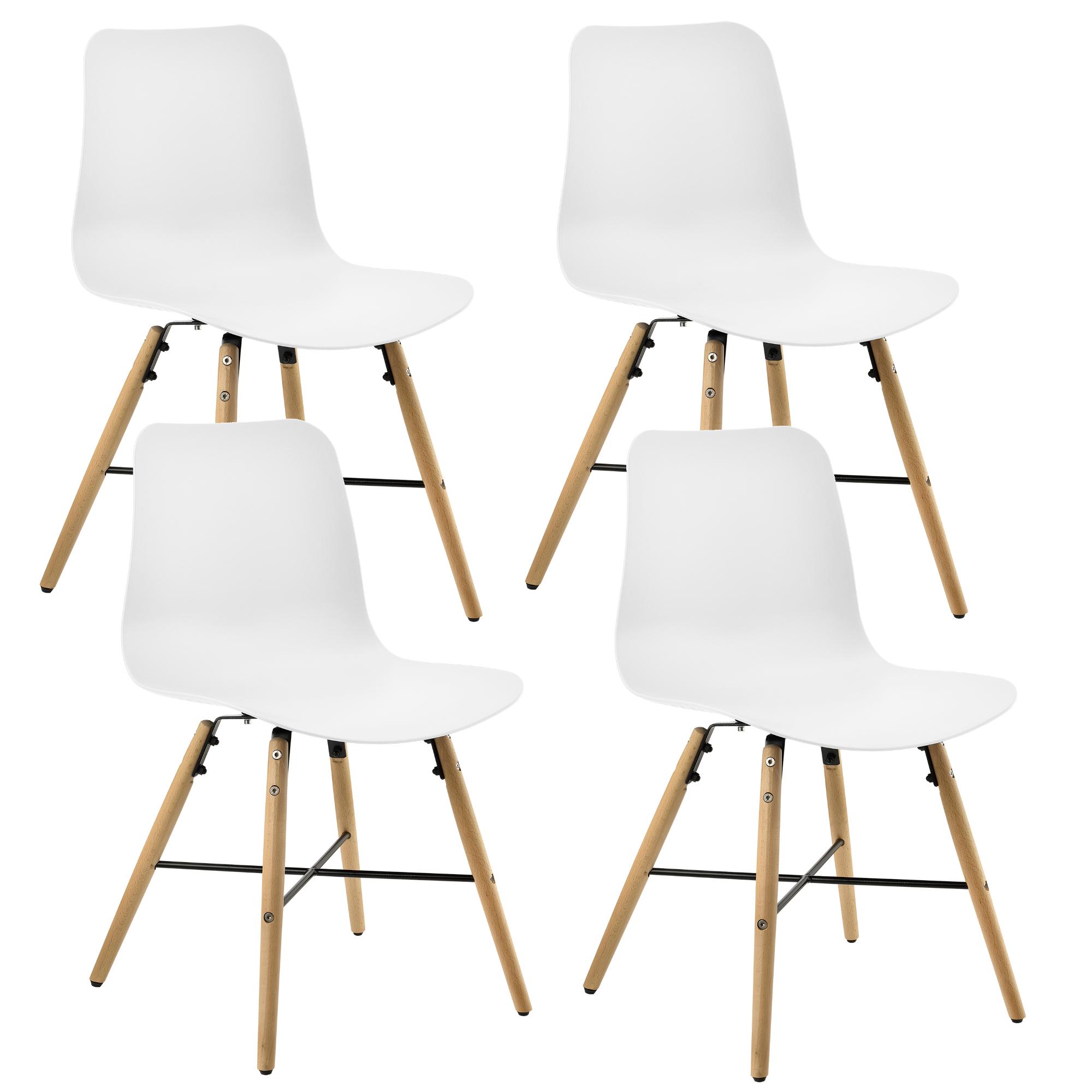 esstisch mit 4 st hlen wei 120x80cm k chentisch st hle mit muster ebay. Black Bedroom Furniture Sets. Home Design Ideas