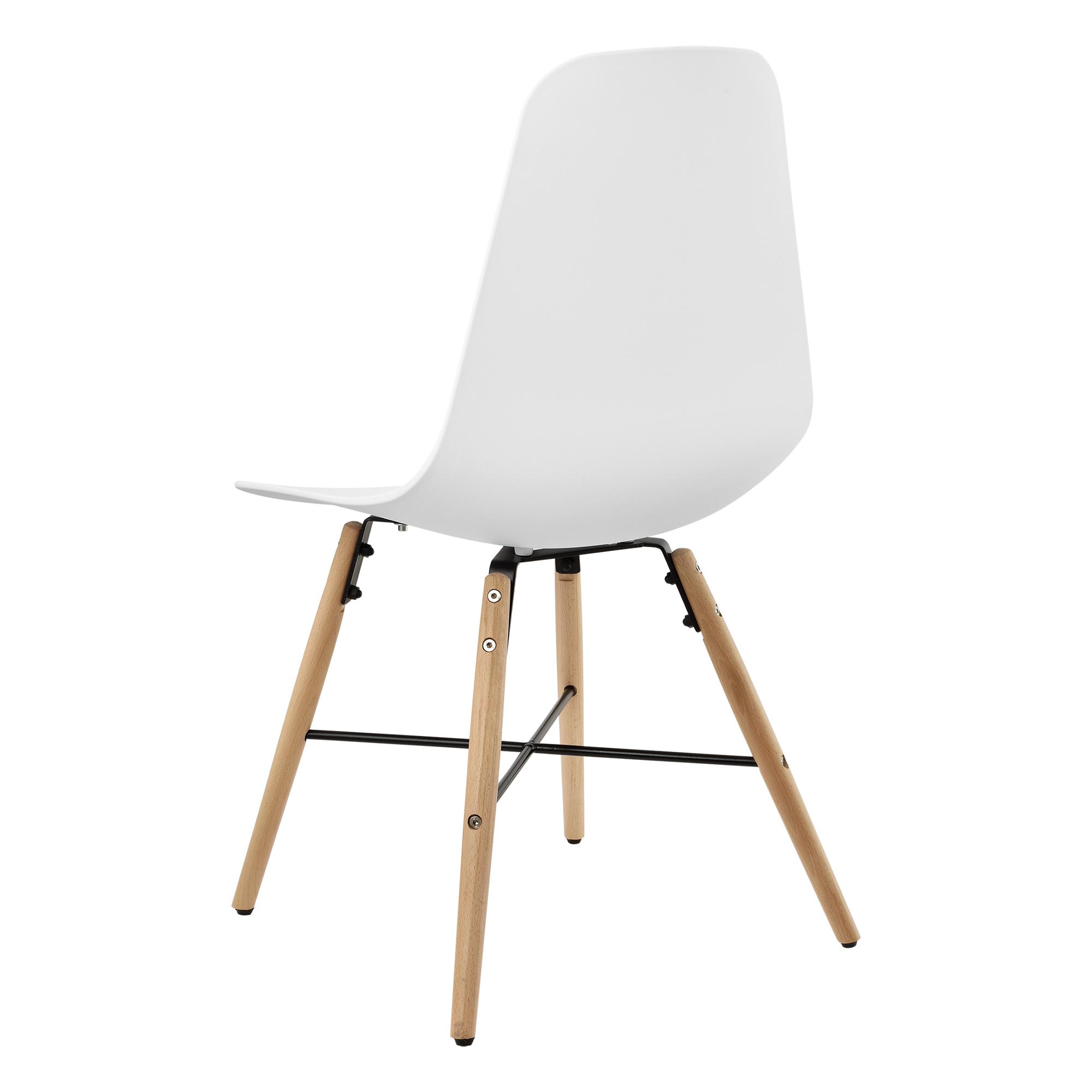 6er set chaise de salle manger plastique blanc for Chaise de salle a manger en plastique