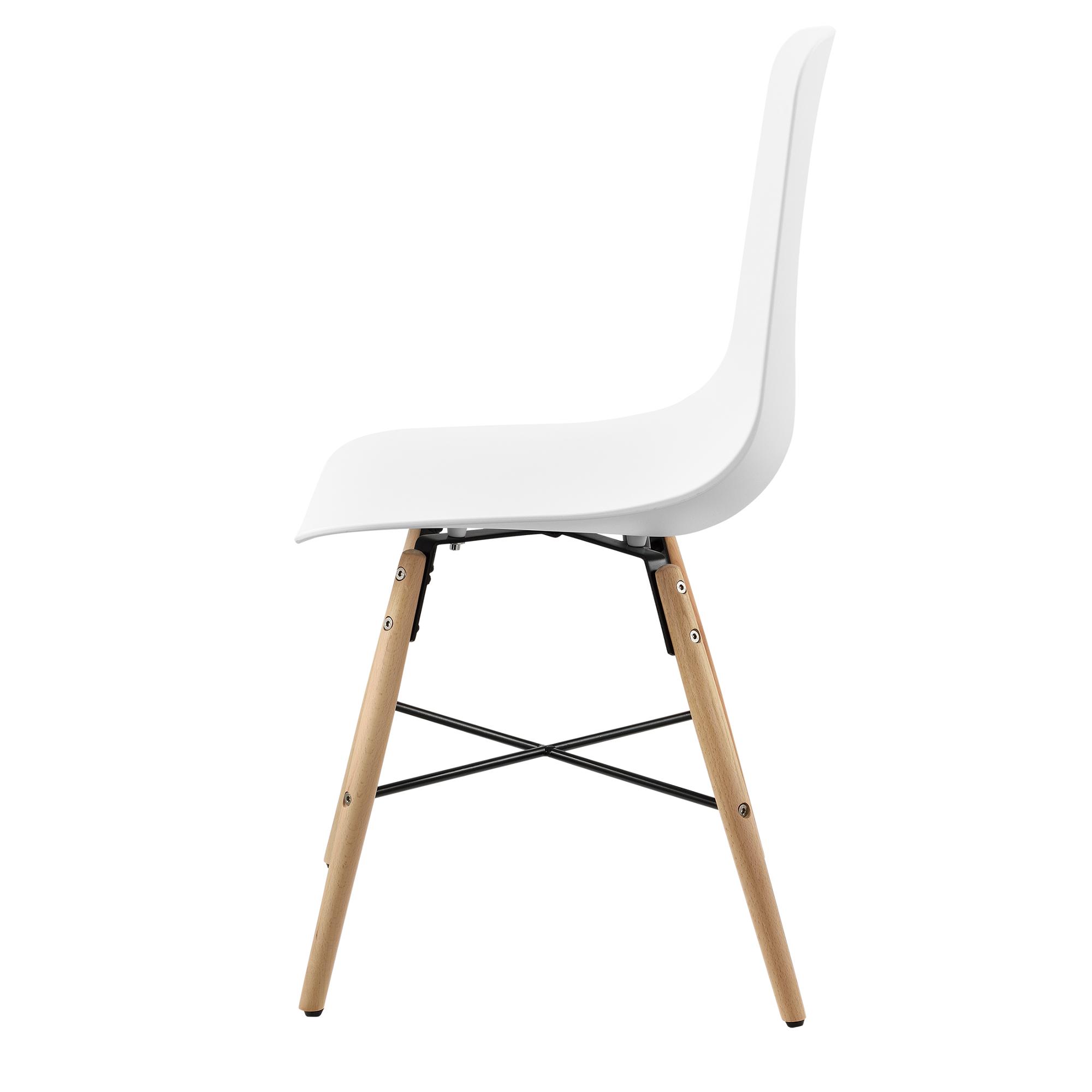 6er set chaise de salle manger plastique blanc for Chaise design plastique salle a manger