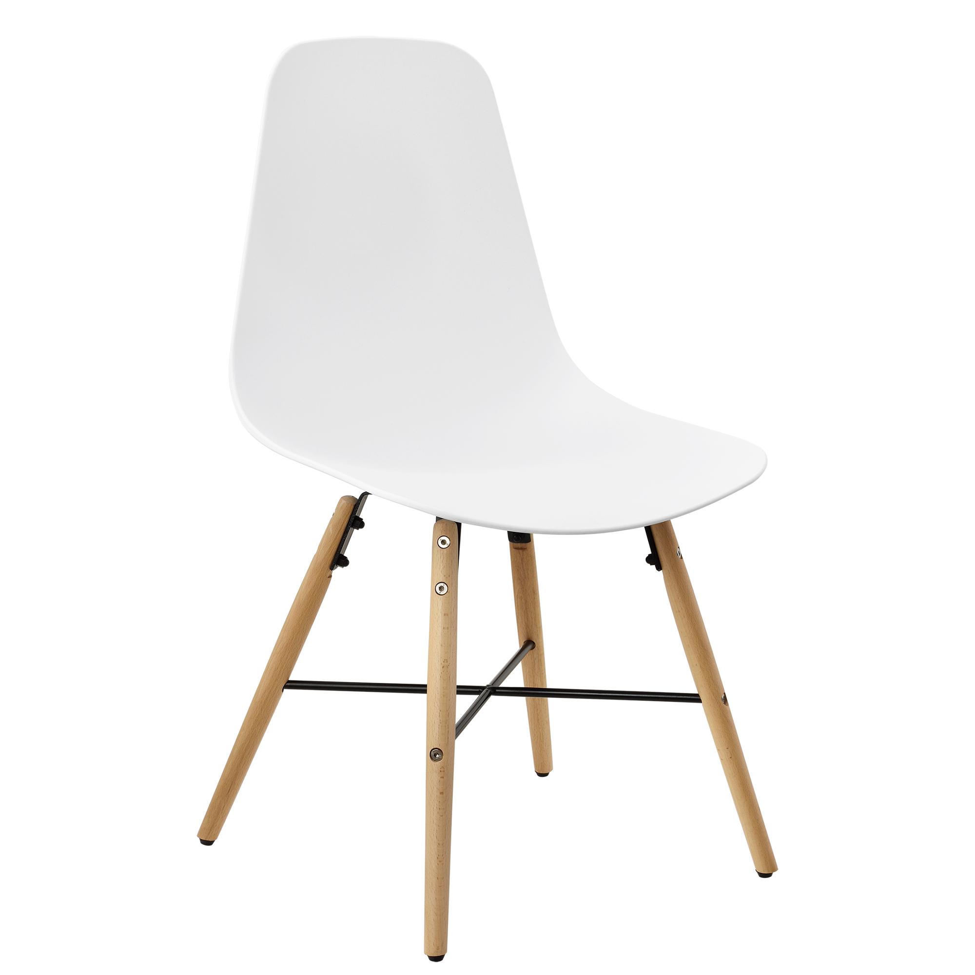 en.casa] Set de 6 sillas de comedor blancas plástico diseño retro ...
