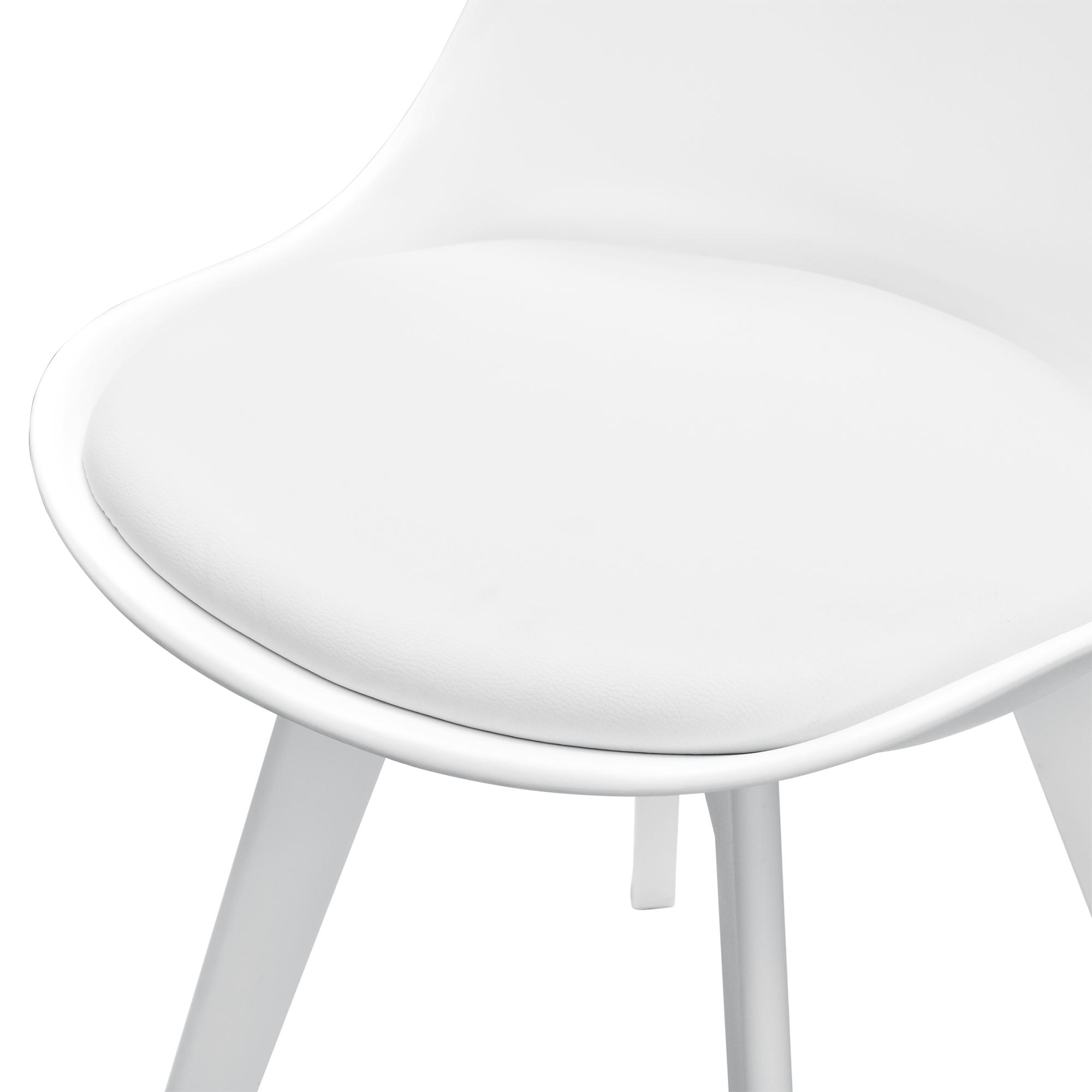 6x design st hle esszimmer wei stuhl kunststoff kunst leder stuhl set. Black Bedroom Furniture Sets. Home Design Ideas