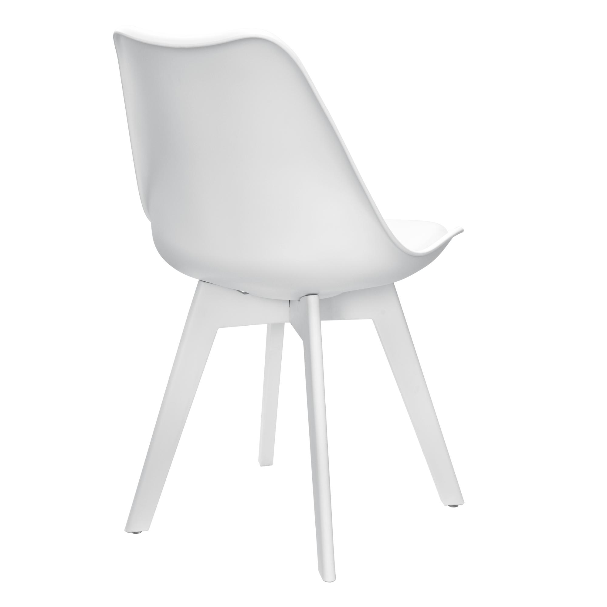 2x dise o sillas comedor blanco pl stico piel - Sillas plastico diseno ...