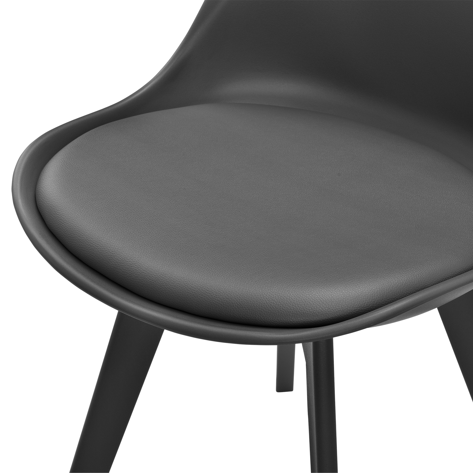 2x design st hle esszimmer grau stuhl kunststoff kunst leder stuhl set ebay. Black Bedroom Furniture Sets. Home Design Ideas