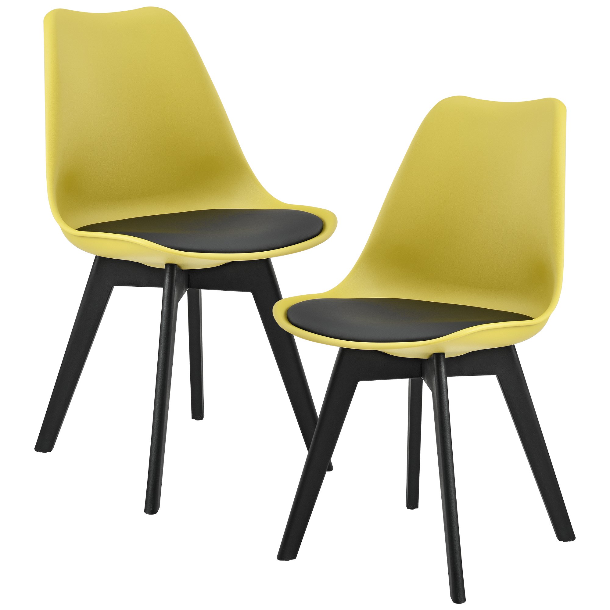 2 x design chairs dining room mustard plastic for Stuhl design bilder