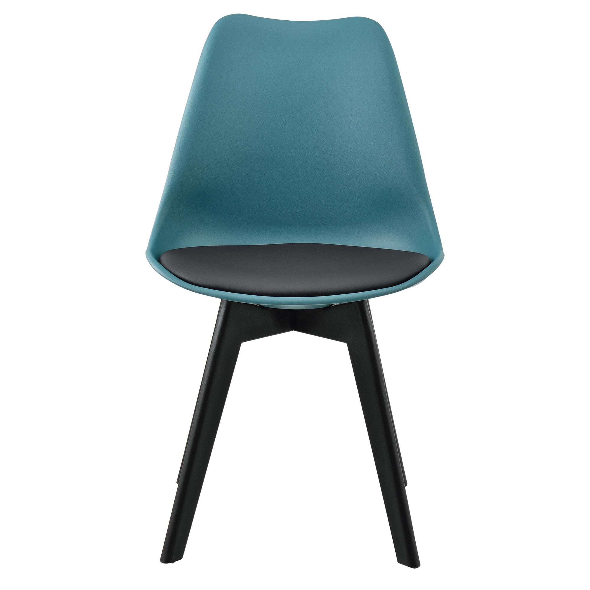 [ensa] 2x Design Stühle Esszimmer Stuhl Holz Kunststoff