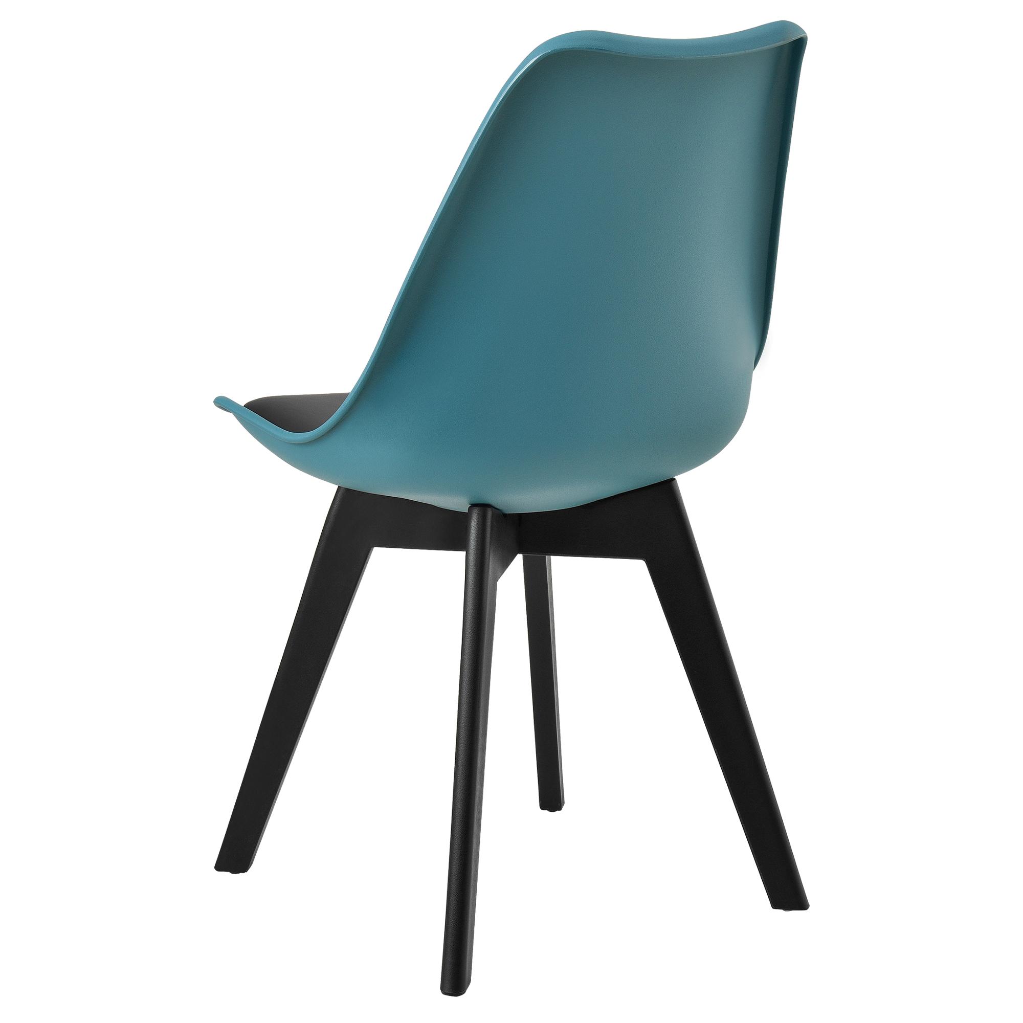 2x design st hle esszimmer t rkis kunststoff kunst leder stuhl set ebay. Black Bedroom Furniture Sets. Home Design Ideas