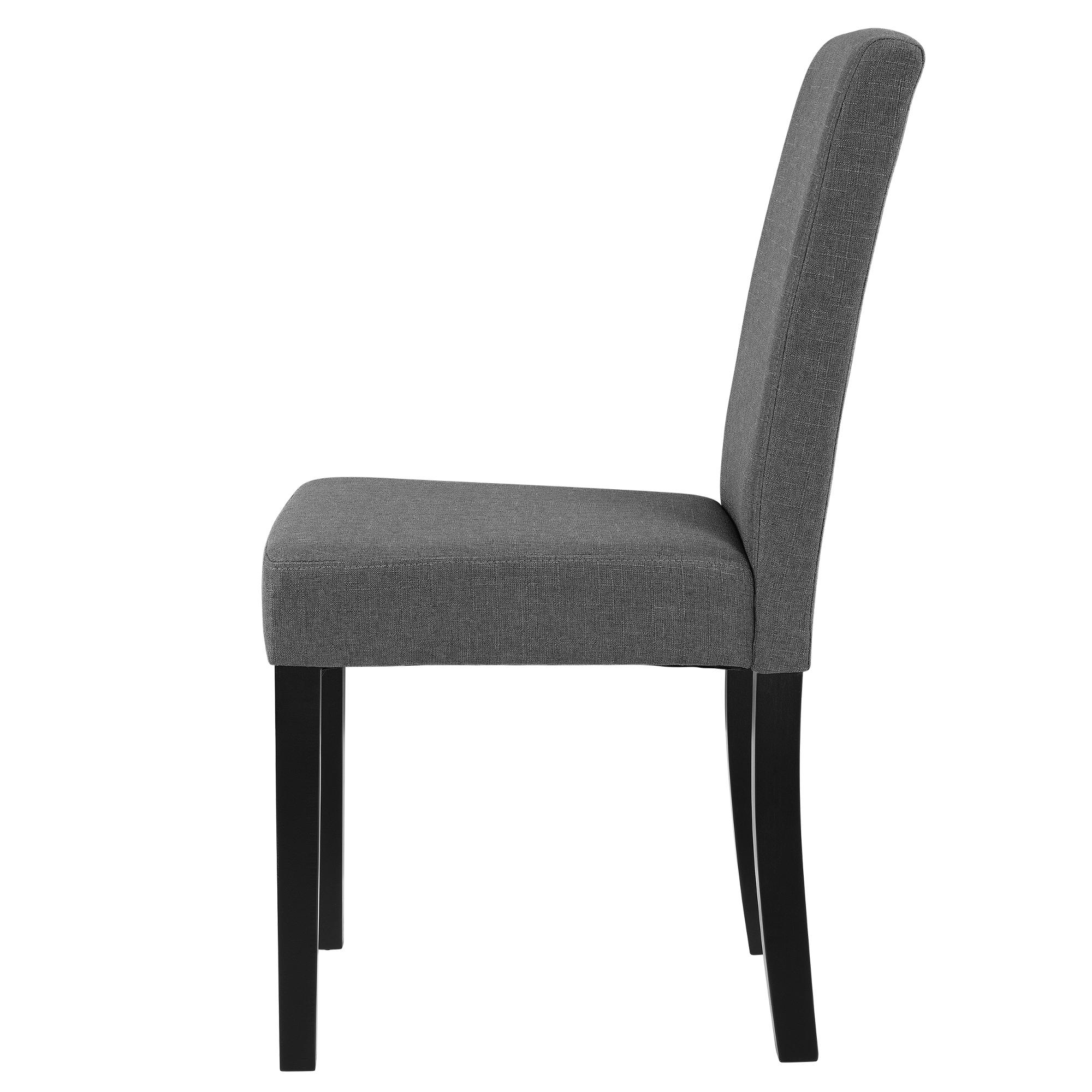en.casa]® Set de 2 sillas de comedor tapizadas de tela gris para ...