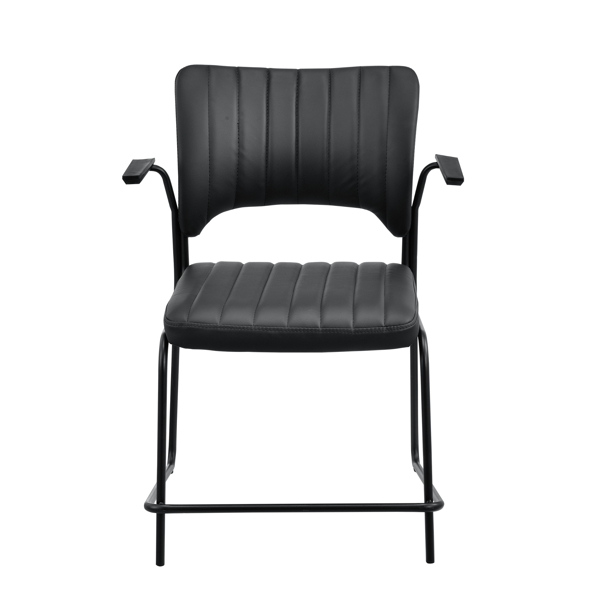 [en.casa]® Konferenzstuhl 2er Set schwarz Besucherstuhl Büro Stuhl Stapelstuhl 4