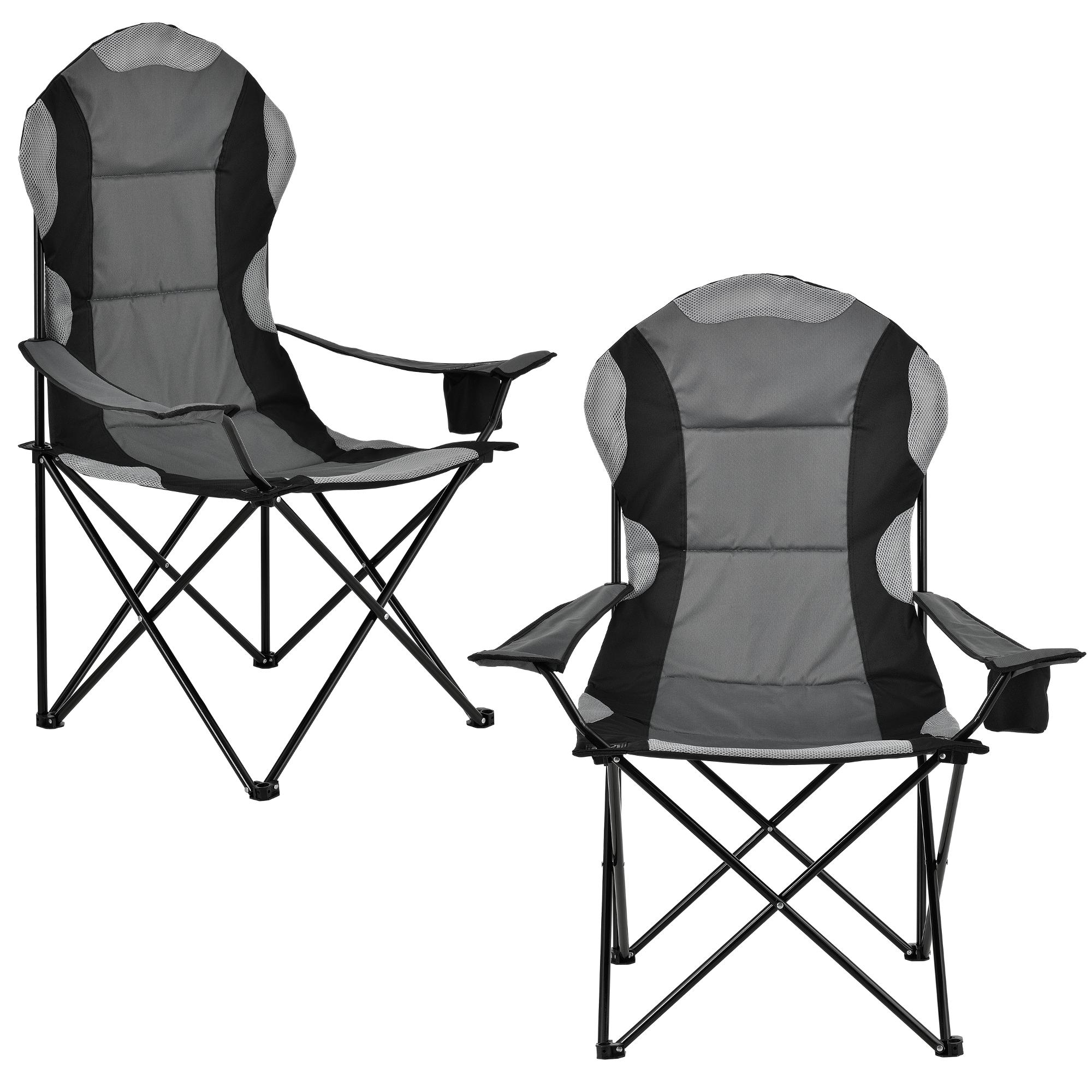 2x campingstuhl faltstuhl klappstuhl regiestuhl anglerstuhl faltbar ebay. Black Bedroom Furniture Sets. Home Design Ideas