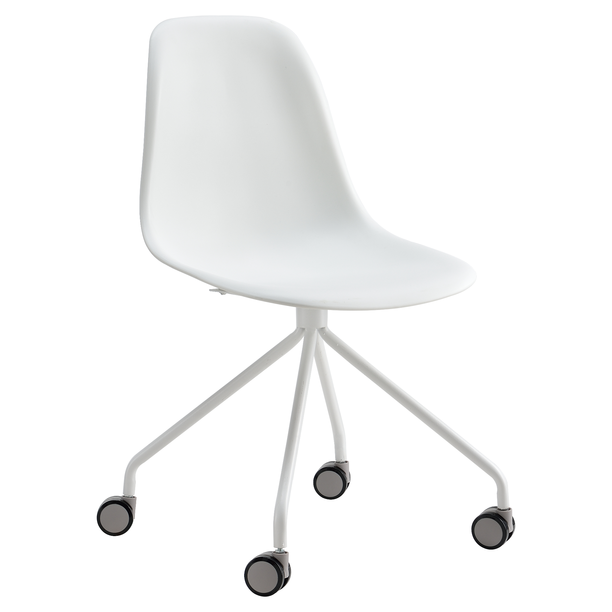 b rostuhl wei b ro schreibtischstuhl drehstuhl stuhl retro modern ebay. Black Bedroom Furniture Sets. Home Design Ideas
