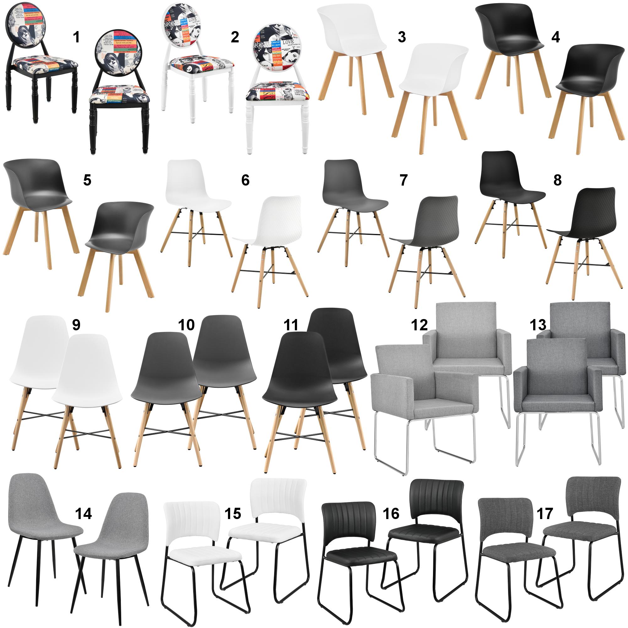 Détails sur [En.casa] 2er-Set Chaise de Salle à Manger Fauteuil Bureau  Ensemble Moderne