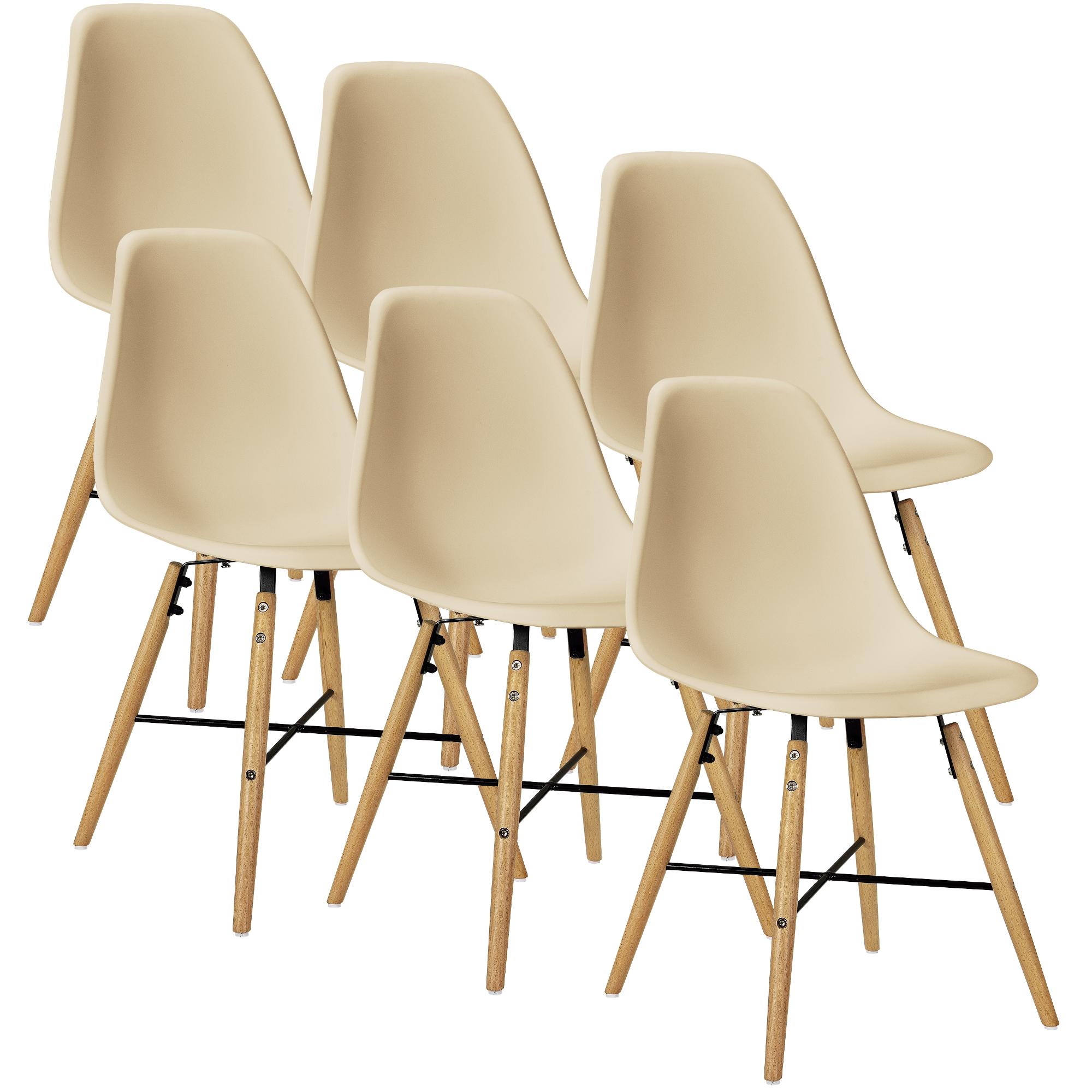 esstisch wei mit 6 st hlen beige 140x90cm. Black Bedroom Furniture Sets. Home Design Ideas