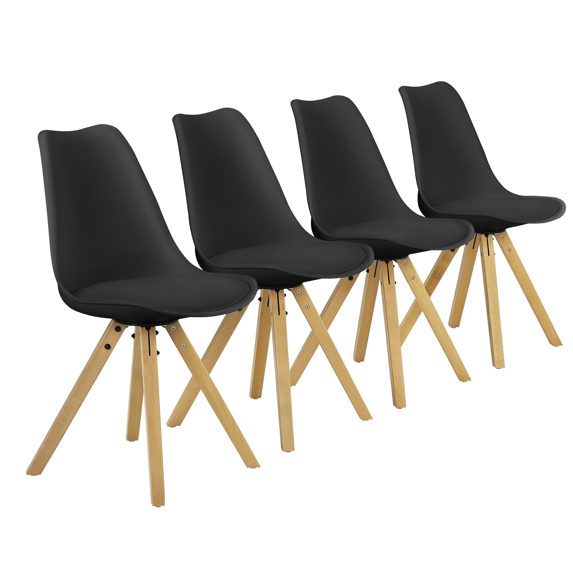 Esstisch Stühle Acryl ~ [encasa]® Esstisch 120x80cm mit Stühlen Küchentisch Esszimmer Tisch Essgrupp