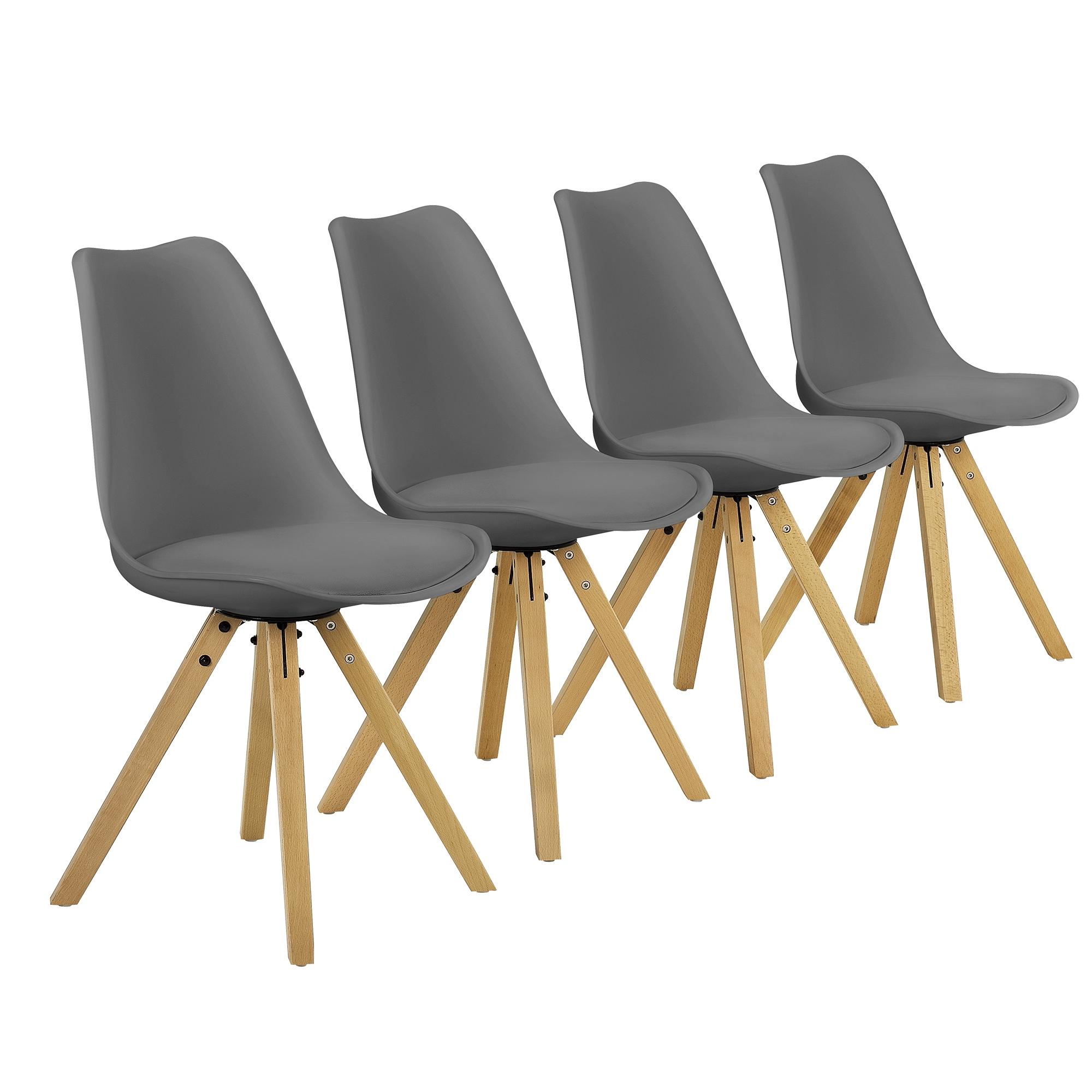 esstisch mit 4 st hlen wei grau 120x70cm tisch st hle essgruppe ebay. Black Bedroom Furniture Sets. Home Design Ideas