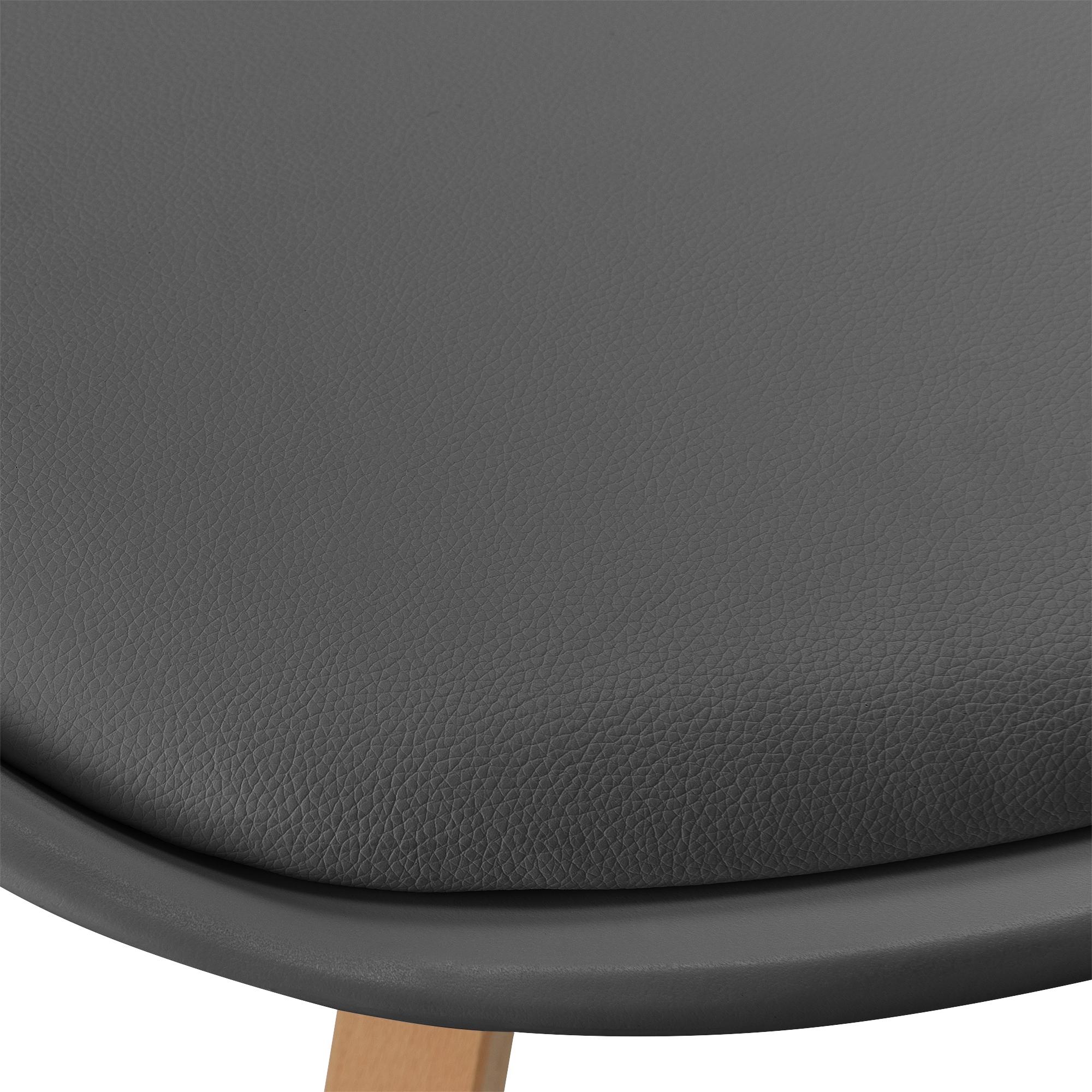 esstisch bambus mit 6 st hlen grau gepolstert tisch 180x80 st hle ebay. Black Bedroom Furniture Sets. Home Design Ideas