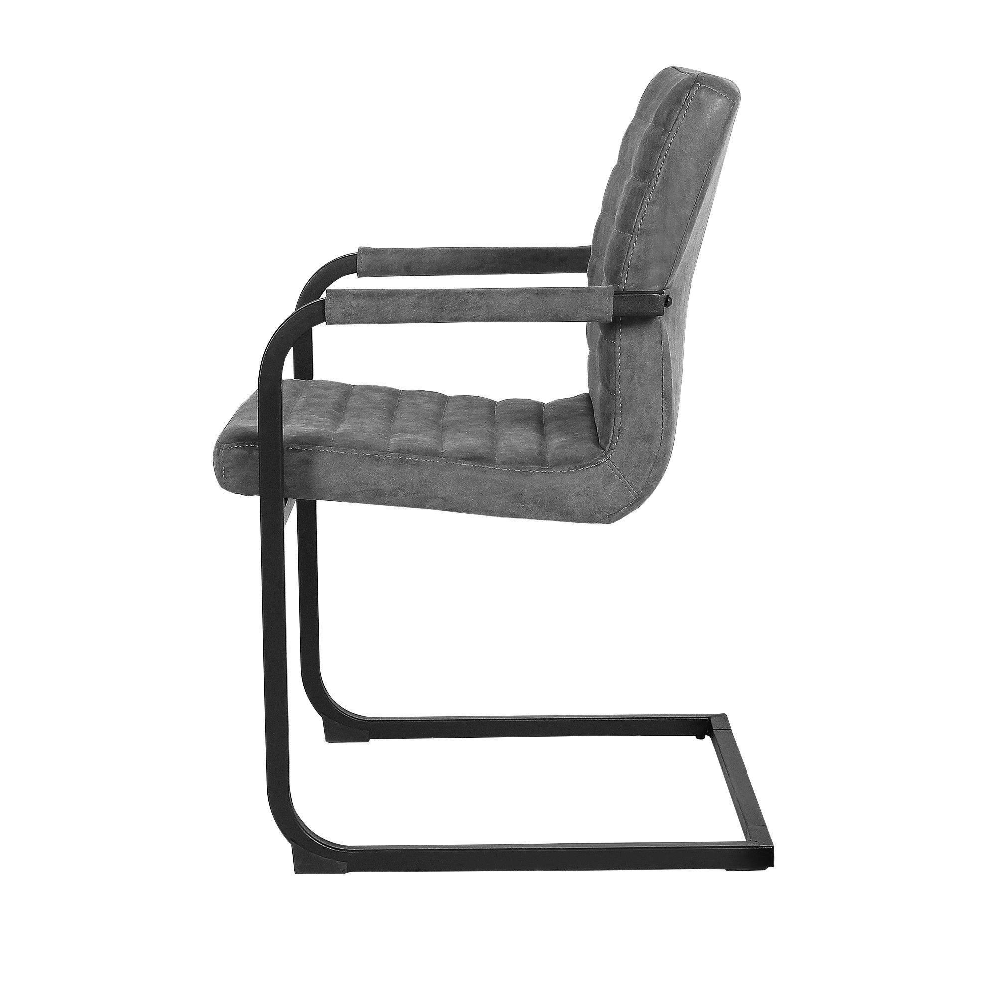 Detalles de [en.casa]® 2x sillas color gris de 86x60 cm, comedor, silla  oficina, de diseño