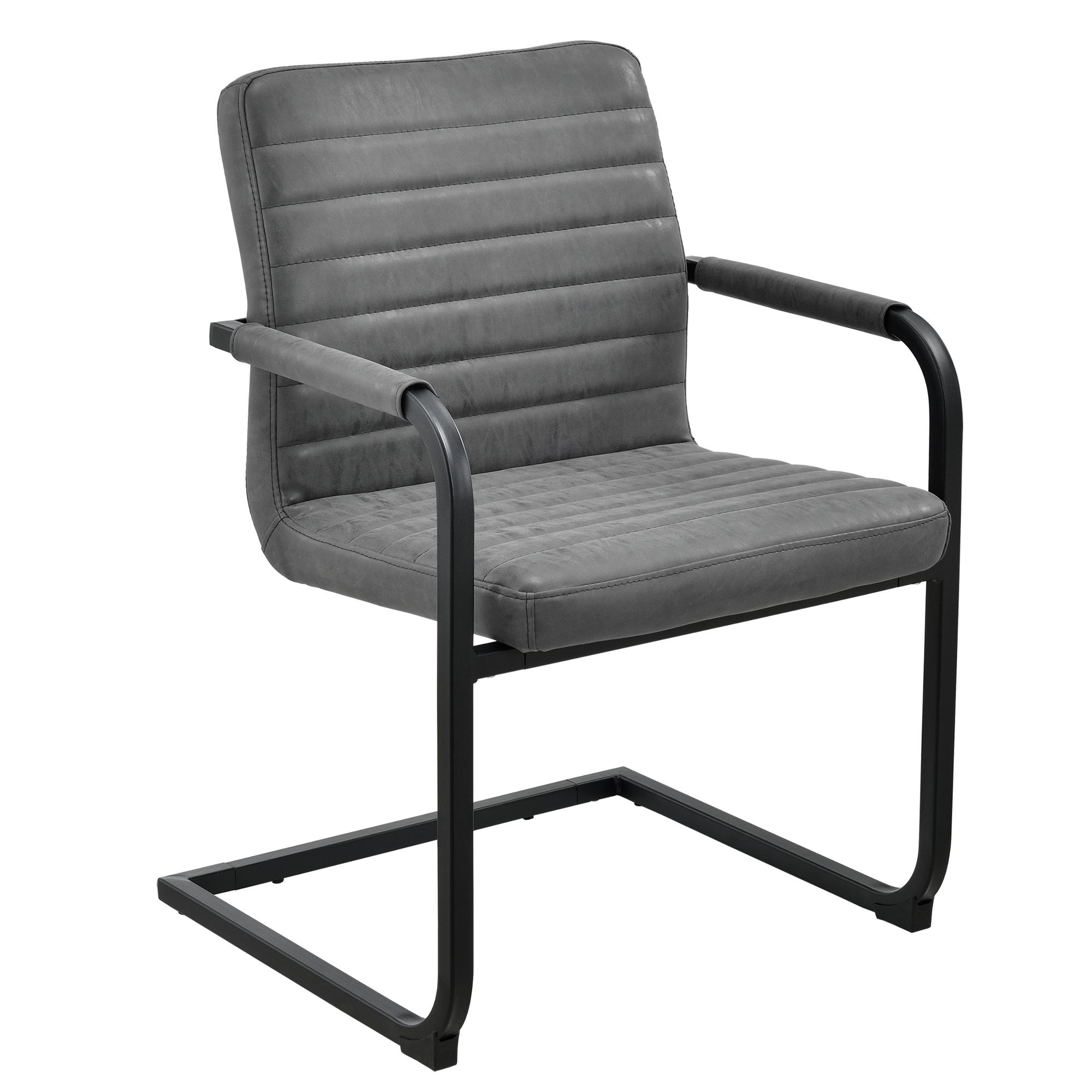 6x sedie sedia cantilever grigio 86x60cm sala da pranzo dondolo sedia - Sedia cantilever ...