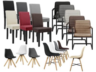 6x design st hle esszimmer wei stuhl holz for Design stuhl cross