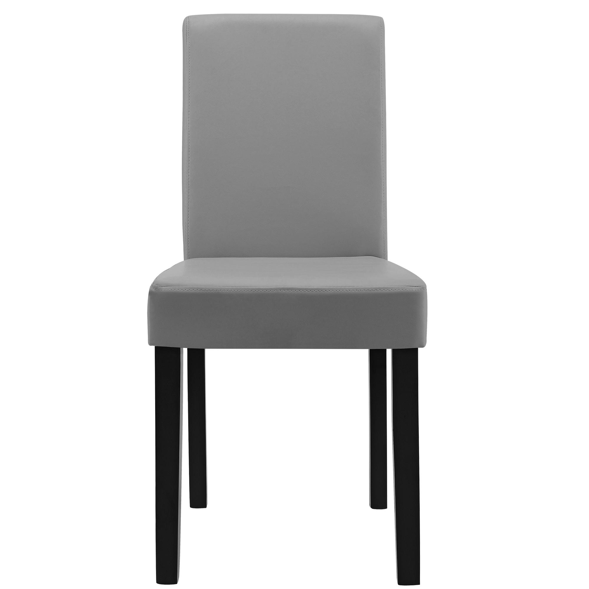 6x chaises dossier haut salle manger gris clair - Chaise haut dossier salle a manger ...
