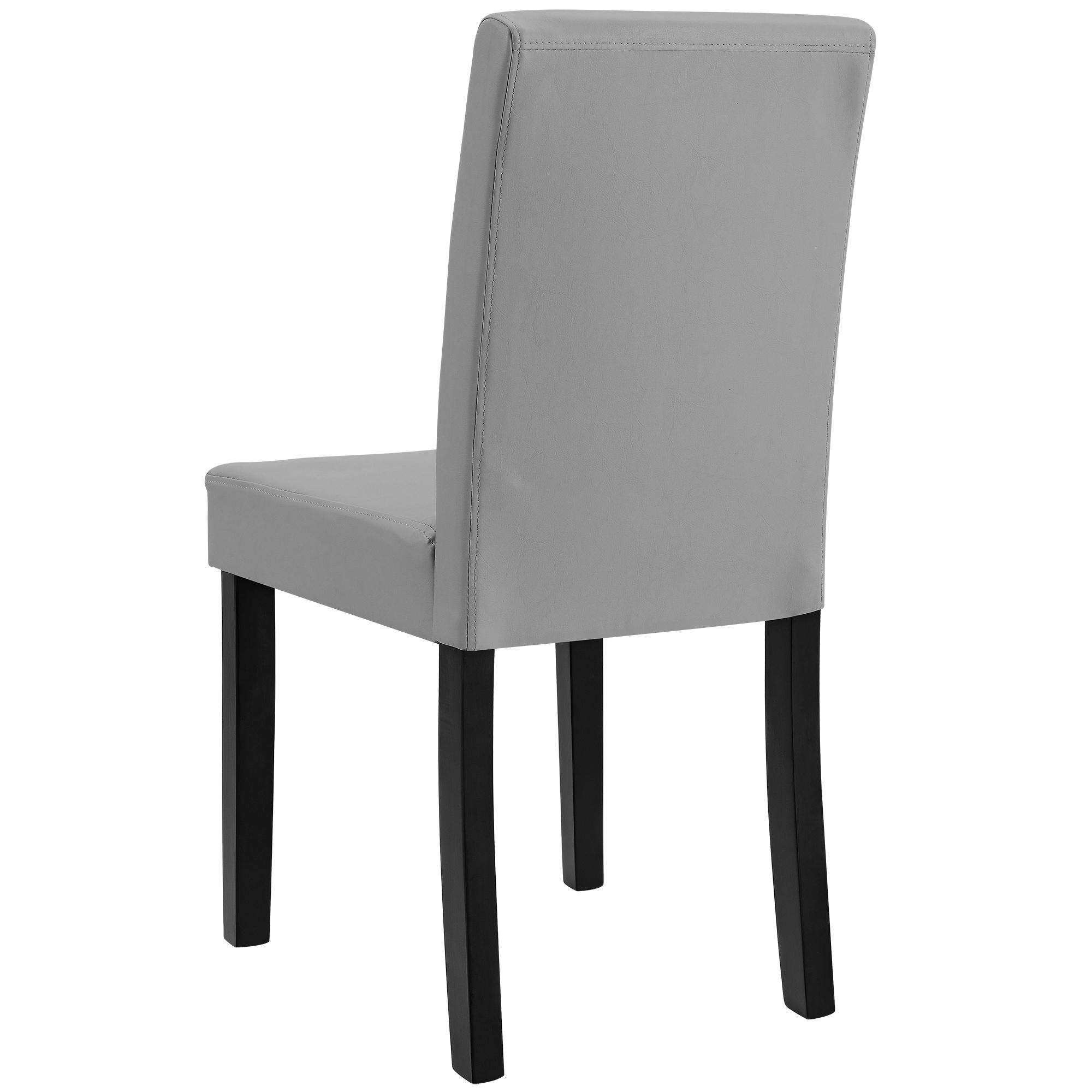 6x chaises dossier haut salle manger gris clair for Chaises salle manger cuir dossier haut