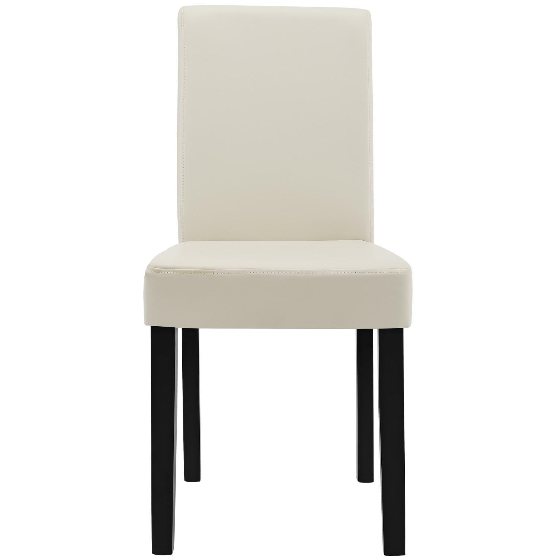 esstisch wei mit 6 st hlen creme 140x90 tisch st hle essgruppe ebay. Black Bedroom Furniture Sets. Home Design Ideas