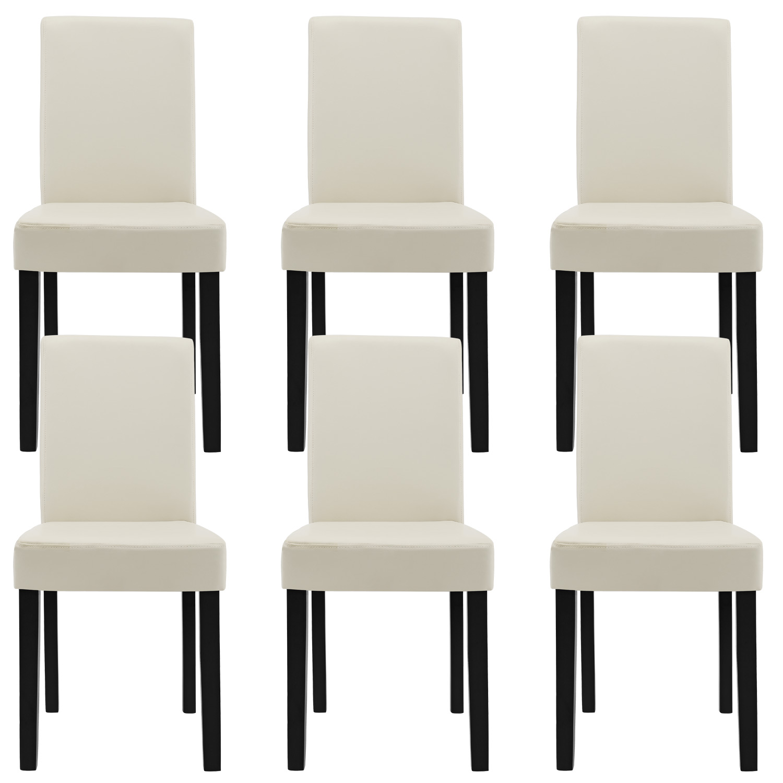 Edle Stühle 6x en casa stühle hochlehner esszimmer stühle creme kunst leder