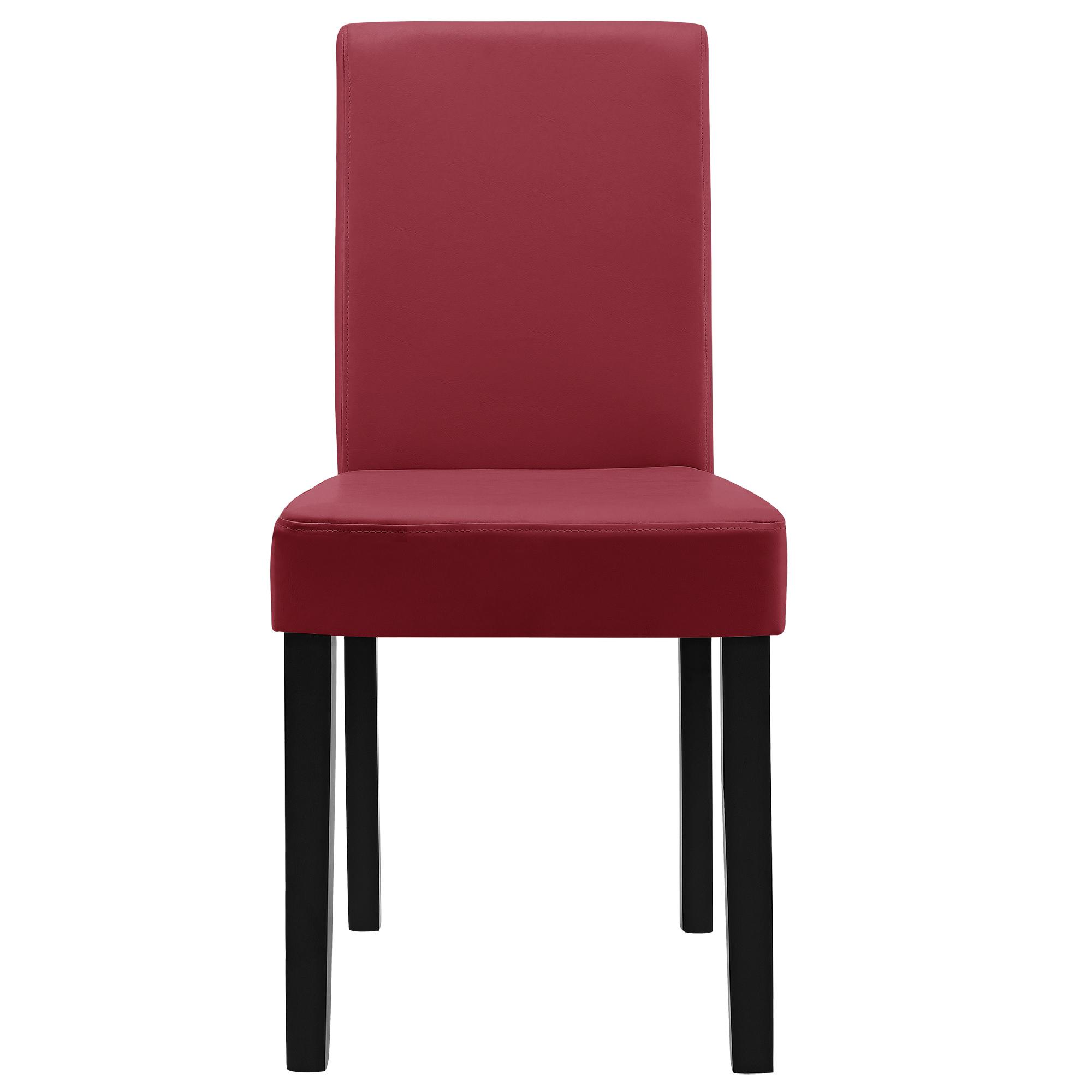 esstisch wei mit 6 st hlen dunkelrot 140x90 tisch st hle essgruppe ebay. Black Bedroom Furniture Sets. Home Design Ideas